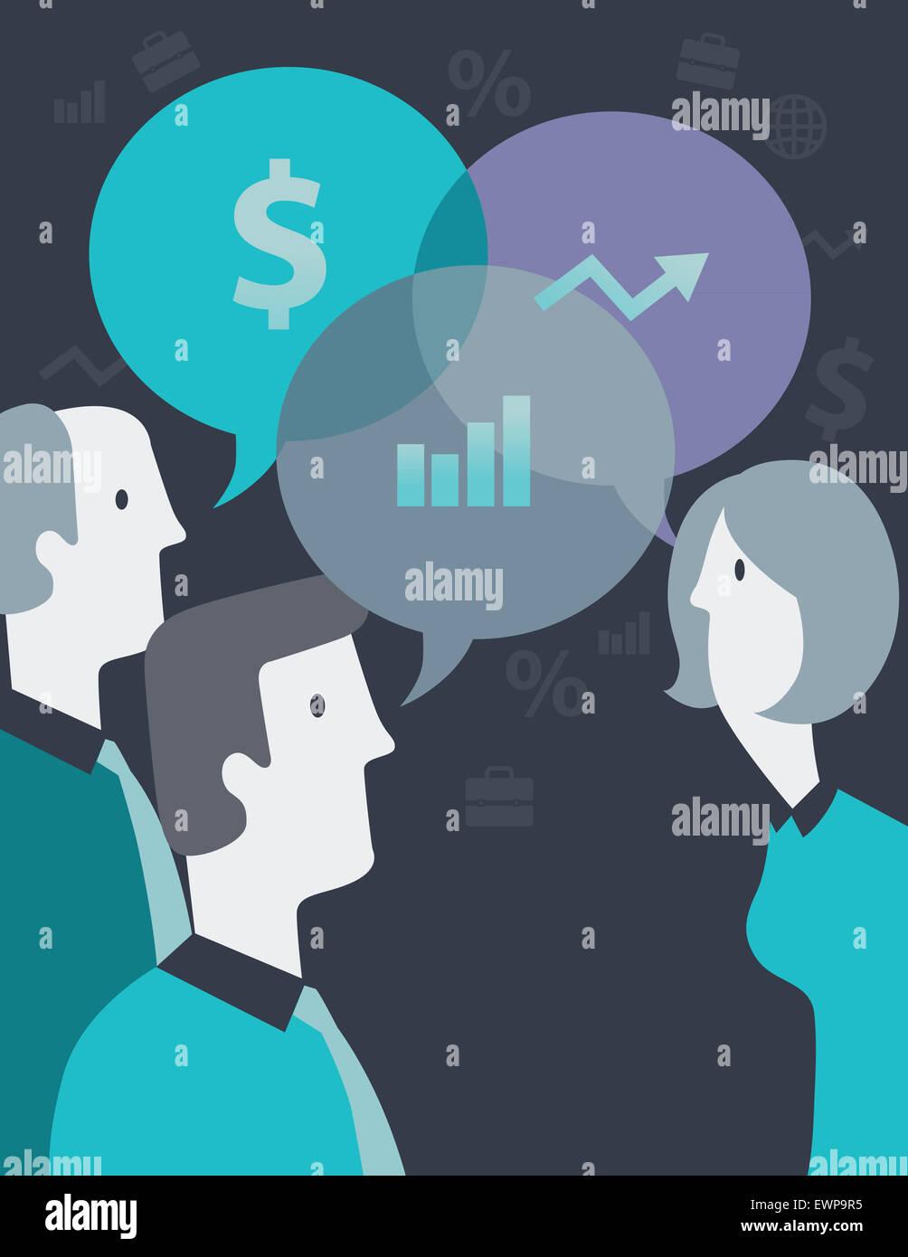 Globale Kommunikation und Vernetzung Stockbild