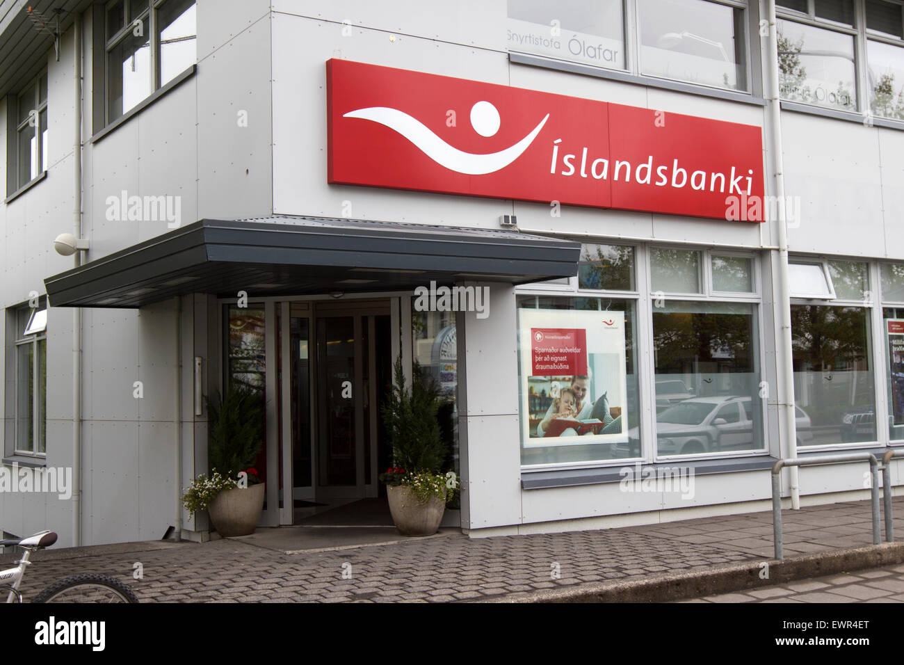 Islandsbanki Bank of Island Niederlassung Island Stockbild