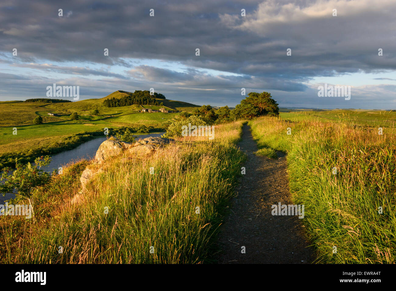 Der Hadrianswall Long Distance Trail Stockbild