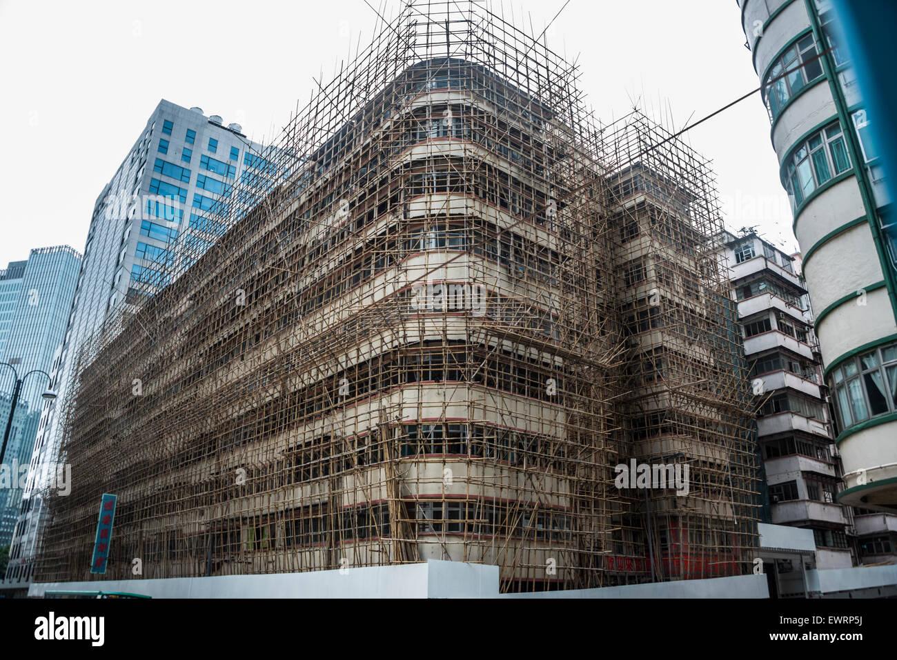 Bambus Gerust Hong Kong Stockfoto Bild 84730174 Alamy