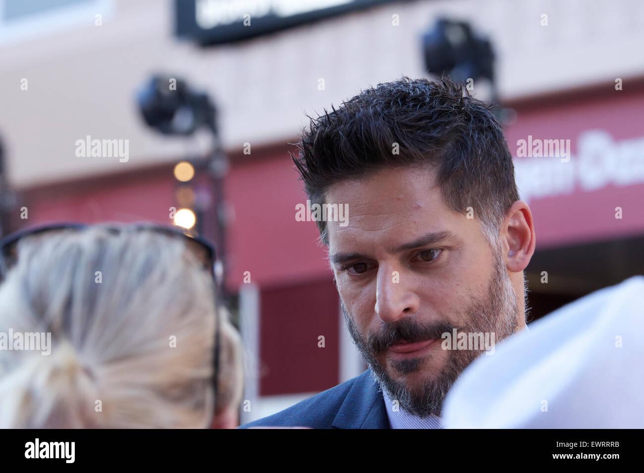 "London, UK. 30. Juni 2015. Der Film-Premiere von ""Magic Mike XXL'at Vue Kino in Leicester Square,London.The Film Stockfoto"