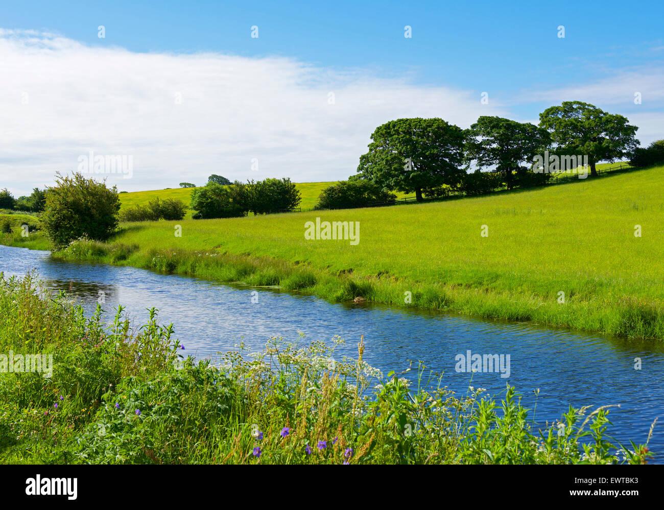 Ortsverbandes Glasson der Lancaster Canal, Lancashire, England UK Stockbild