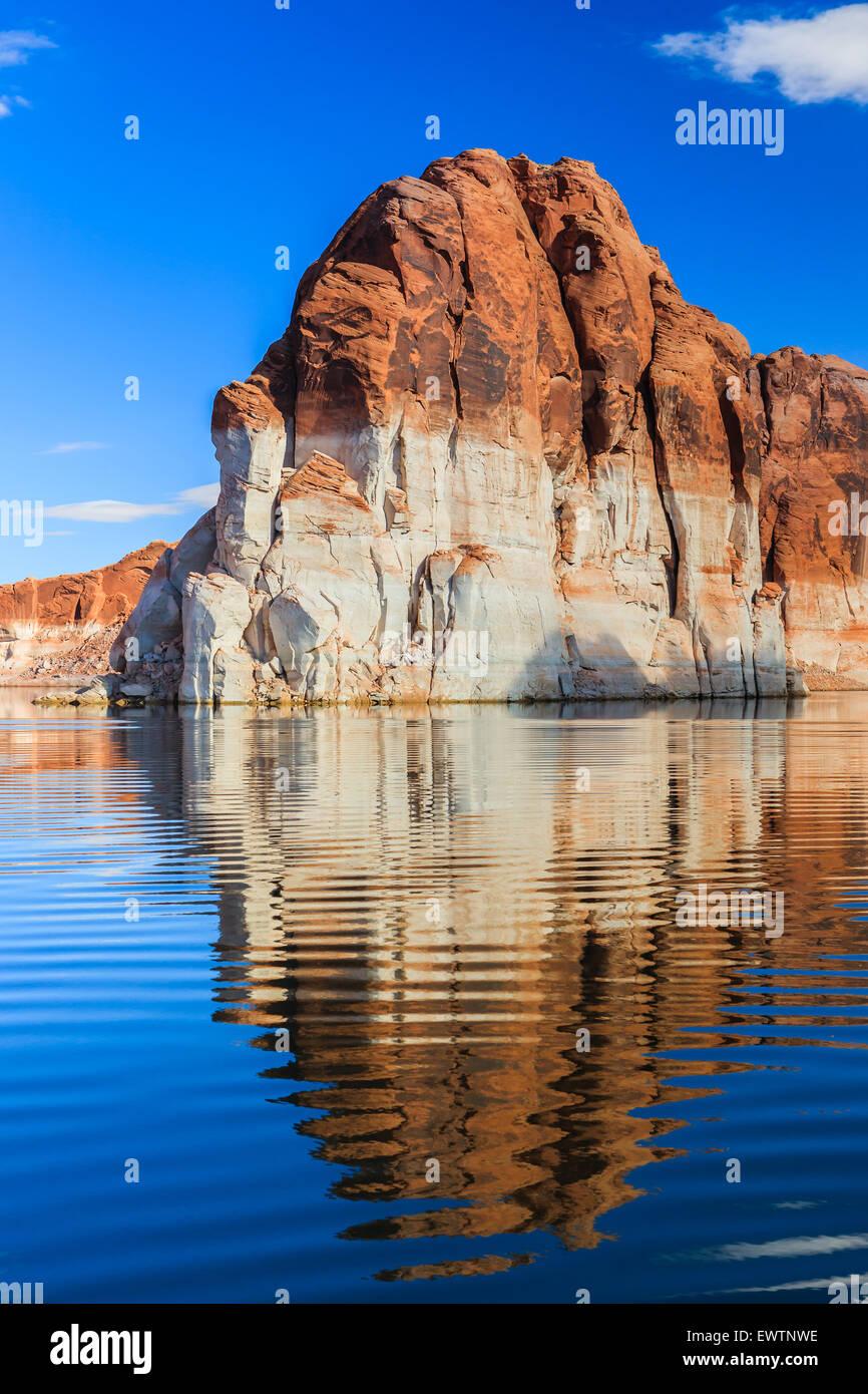 Canyon Wände am Lake Powell an der Grenze zwischen Arizona und Utah, USA Stockbild