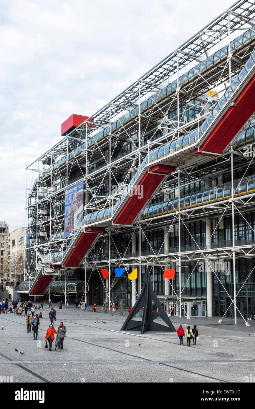 Paris Centre Georges Pompidou, moderne und zeitgenössische Kunst ...