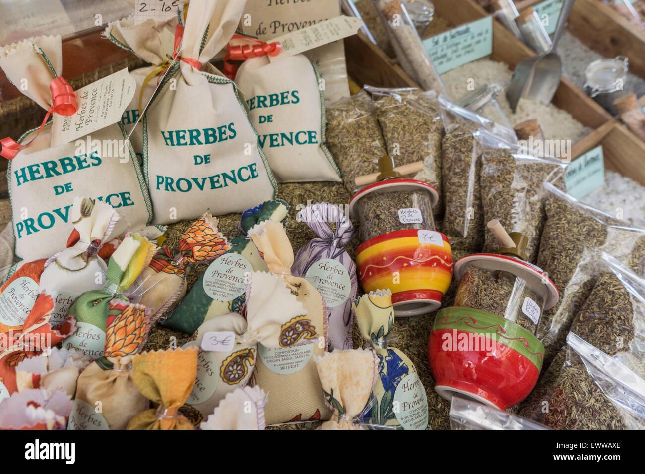 Herbes de Provence, Gewürze, Provence, Frankreich Stockbild