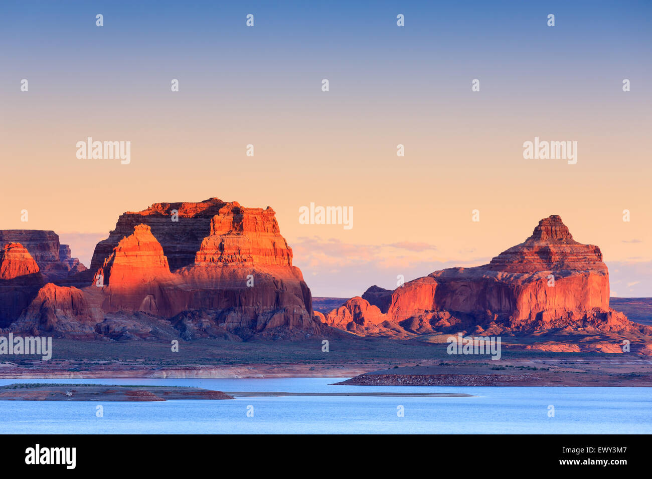 Padre Bucht von Cookie Jar Butte. Lake Powell in Utah Stockfoto