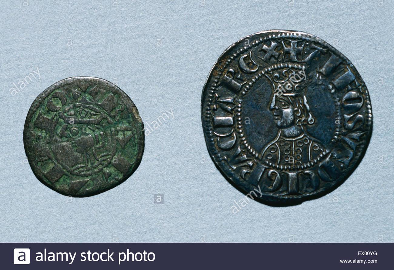 Mittelalterliche Münzen Links Diner Seeschwalbe In Barcelona