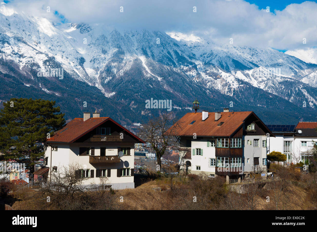 innsbruck houses stockfotos innsbruck houses bilder alamy. Black Bedroom Furniture Sets. Home Design Ideas