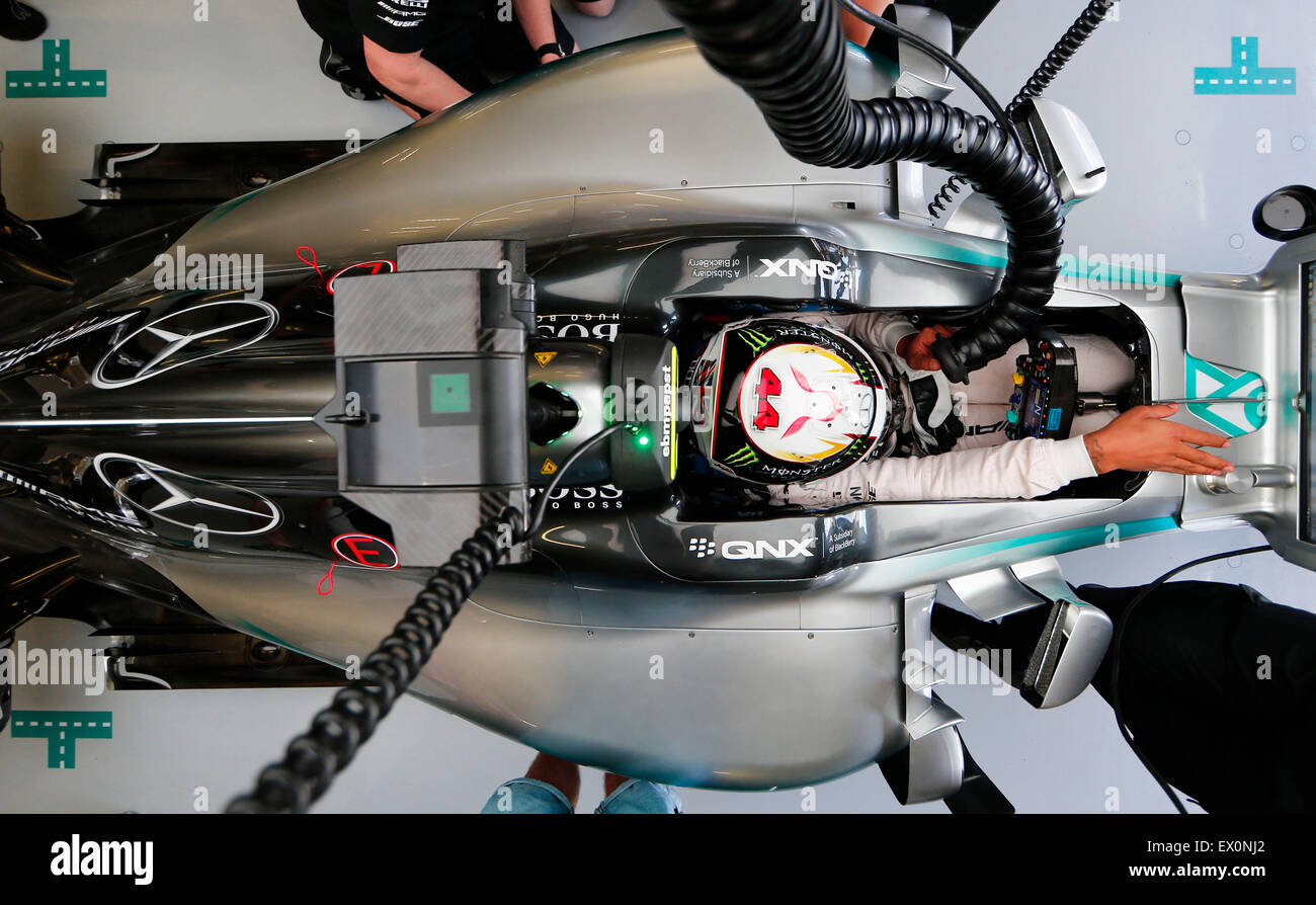 Silverstone, Northants, Großbritannien. 3. Juli 2015. Motorsport: FIA Formula One World Championship 2015, Stockbild