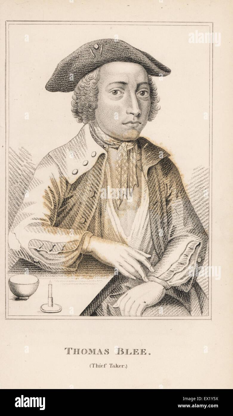 Thomas Blee, Thief Taker. Kupferstich von John Caulfields Porträts, Memoiren und Zeichen der bemerkenswerte Stockbild
