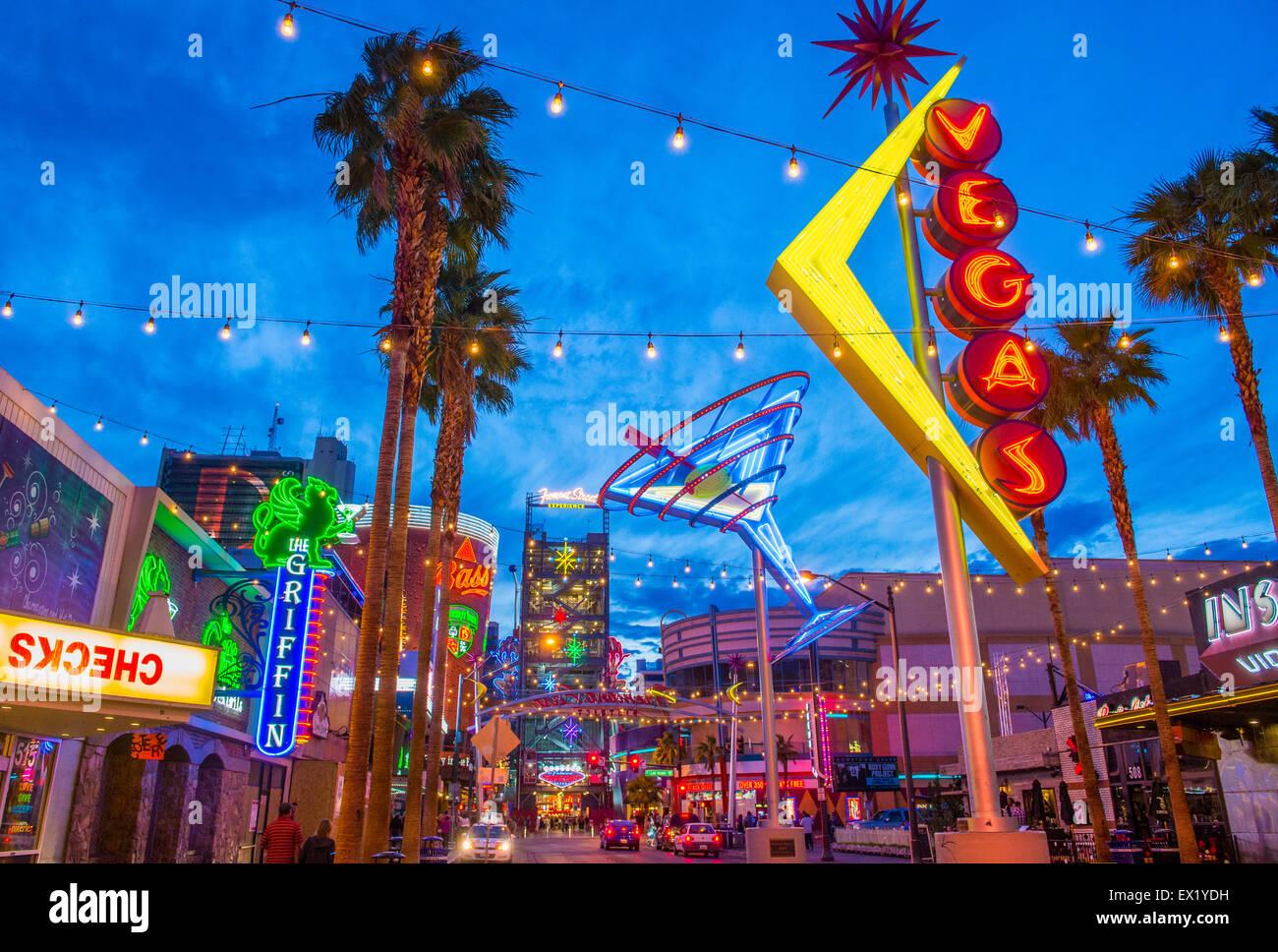 Die Fremont Street Experience in Las Vegas, Nevada. Stockbild