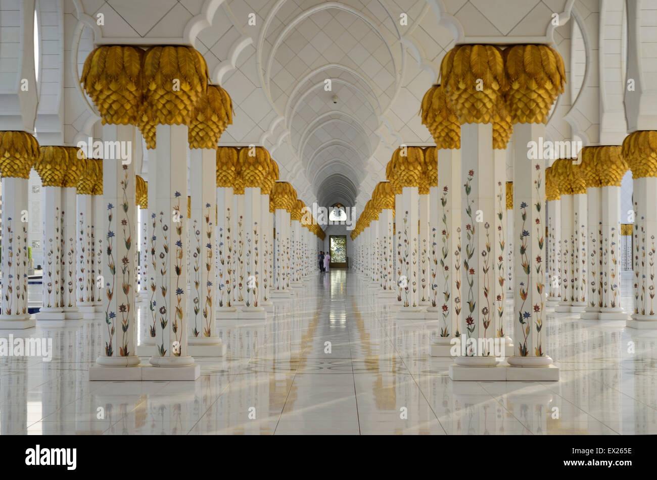 Sheikh-Zayed-Moschee - Abu Dhabi Stockbild