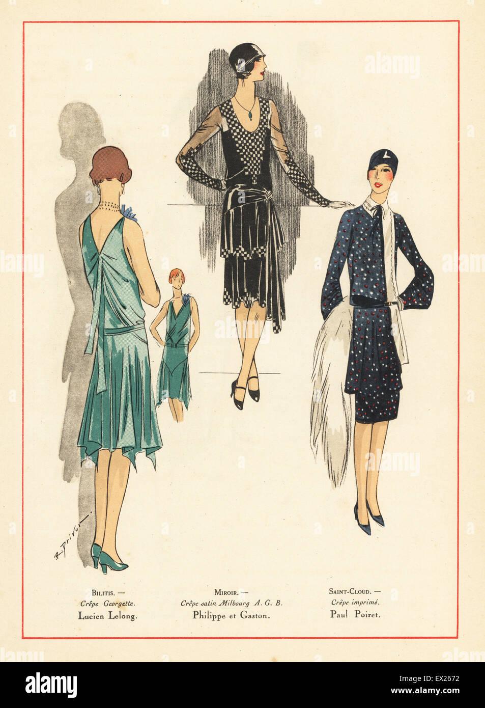 Fashion Illustration 1920s Stockfotos & Fashion Illustration 1920s ...