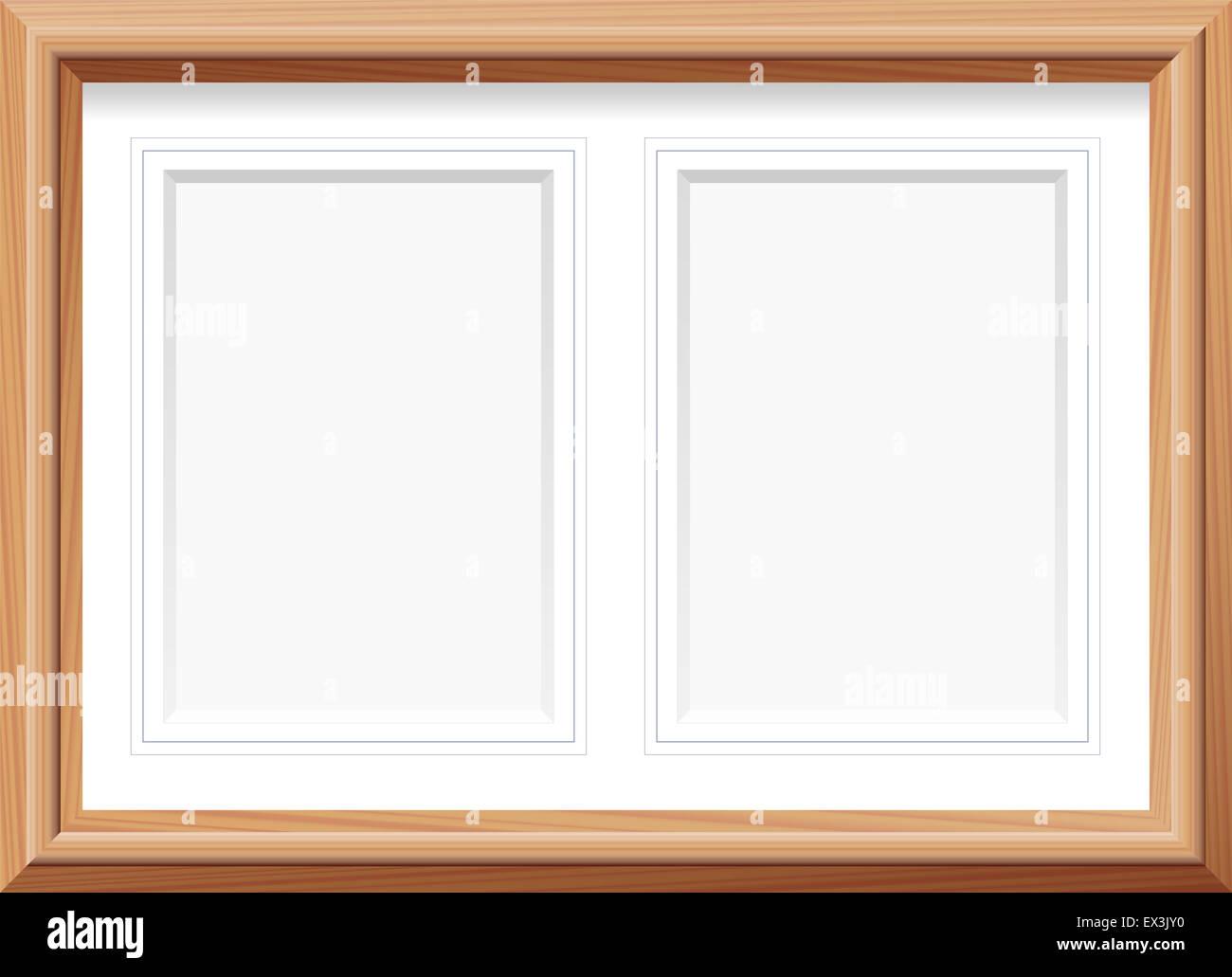 Photo Frame Wooden Horizontal Stockfotos & Photo Frame Wooden ...