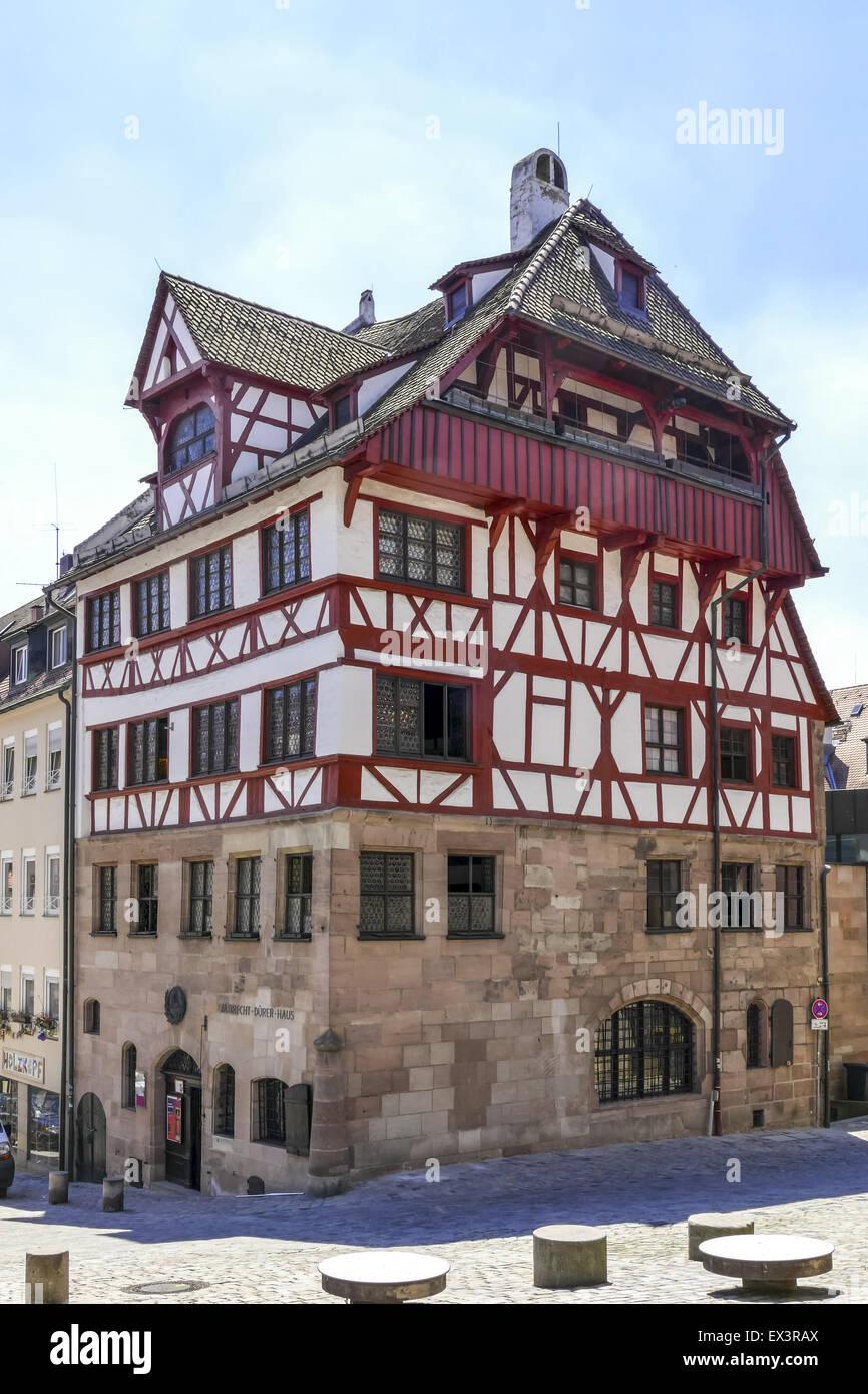 Albrecht-Dürer-Haus, Nürnberg, Middle Franconia, Bayern, Deutschland, Europa Stockbild