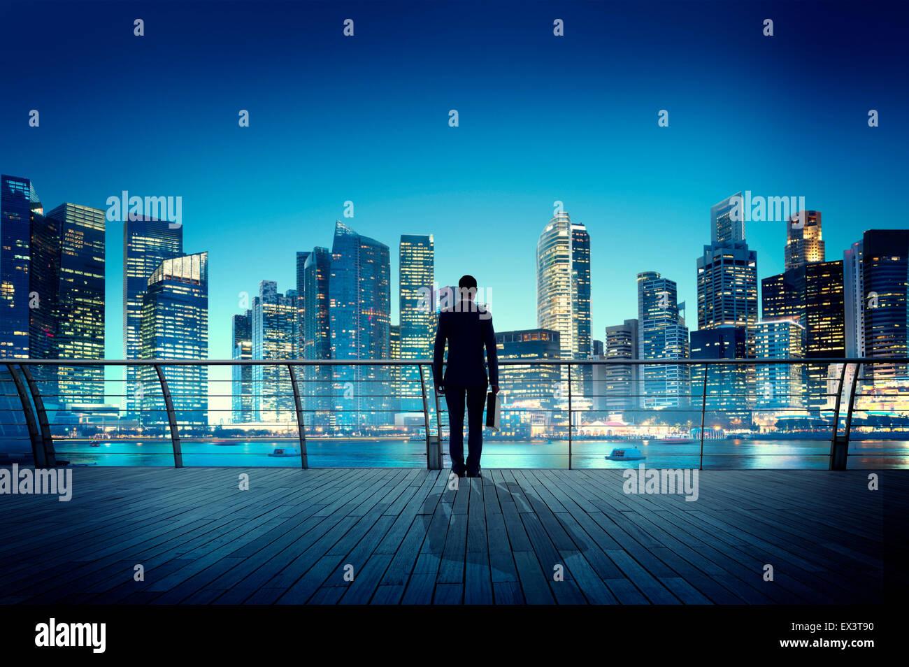 Geschäftsmann Corporate Stadtbild Szene Stadt städtebauliche Konzept Stockbild