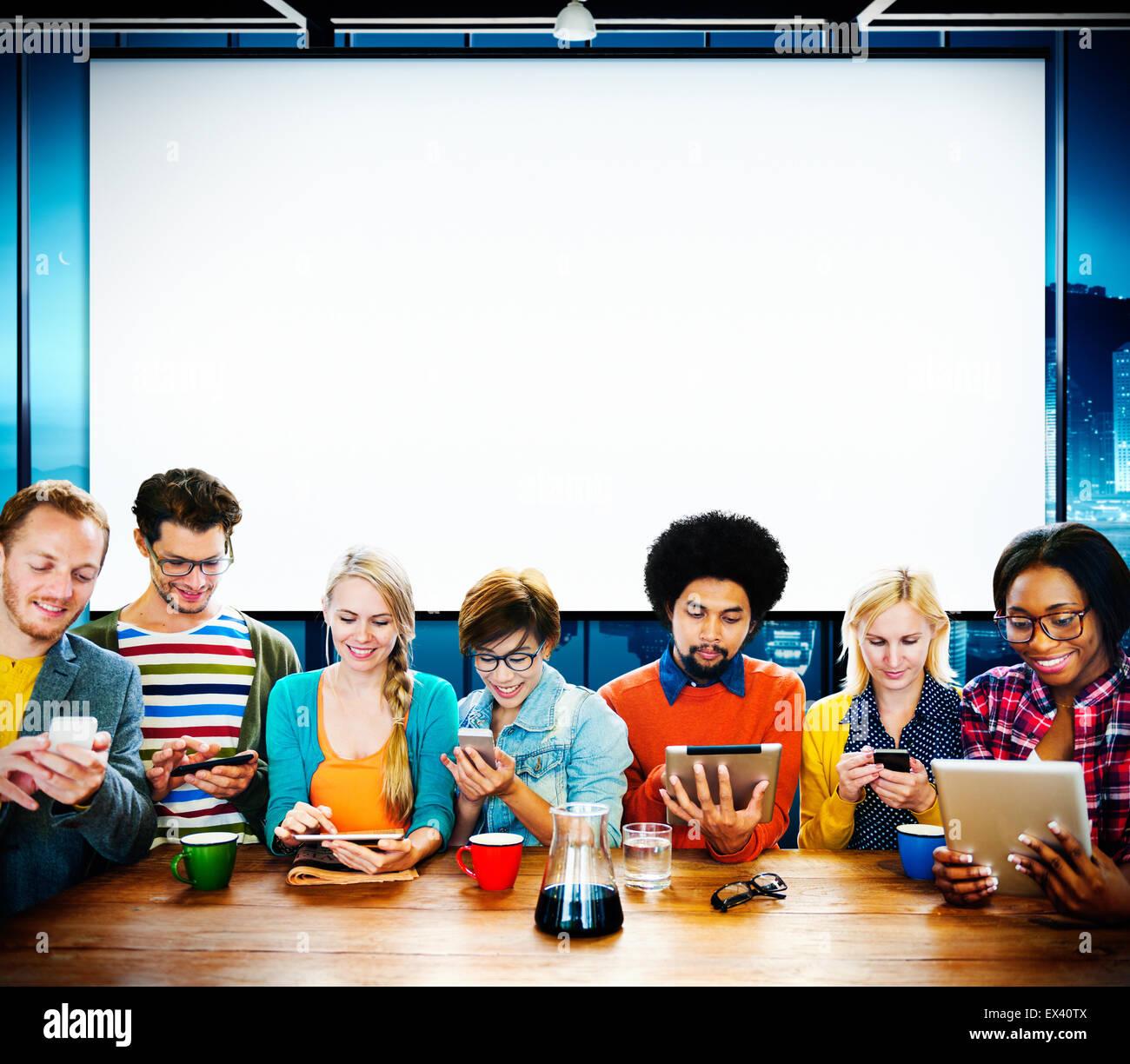 Team Teamwork Diskussion Meeting Planung-Konzept Stockbild