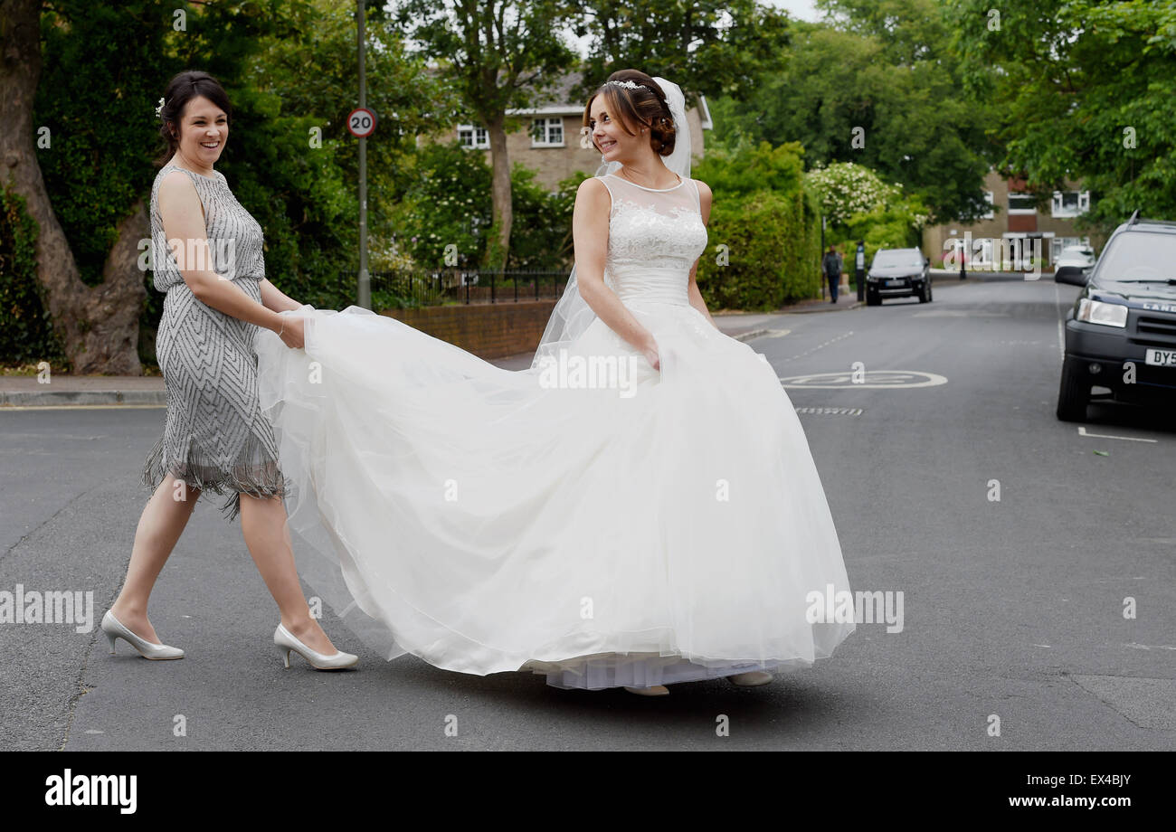 Bridesmaid Dresses Stockfotos & Bridesmaid Dresses Bilder - Alamy