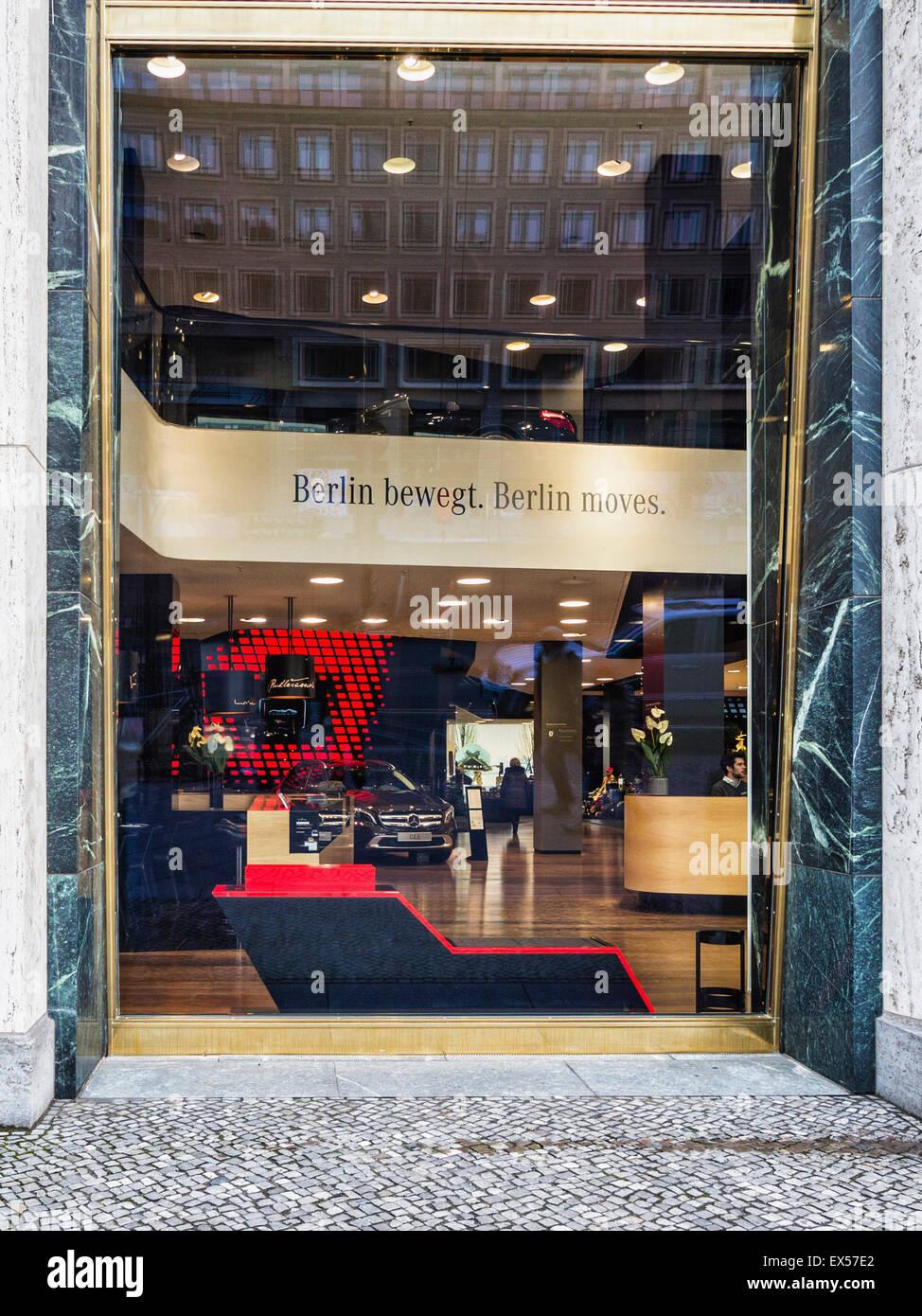 berlin mercedes benz motorwagen showroom, outlet verkauf luxus-autos