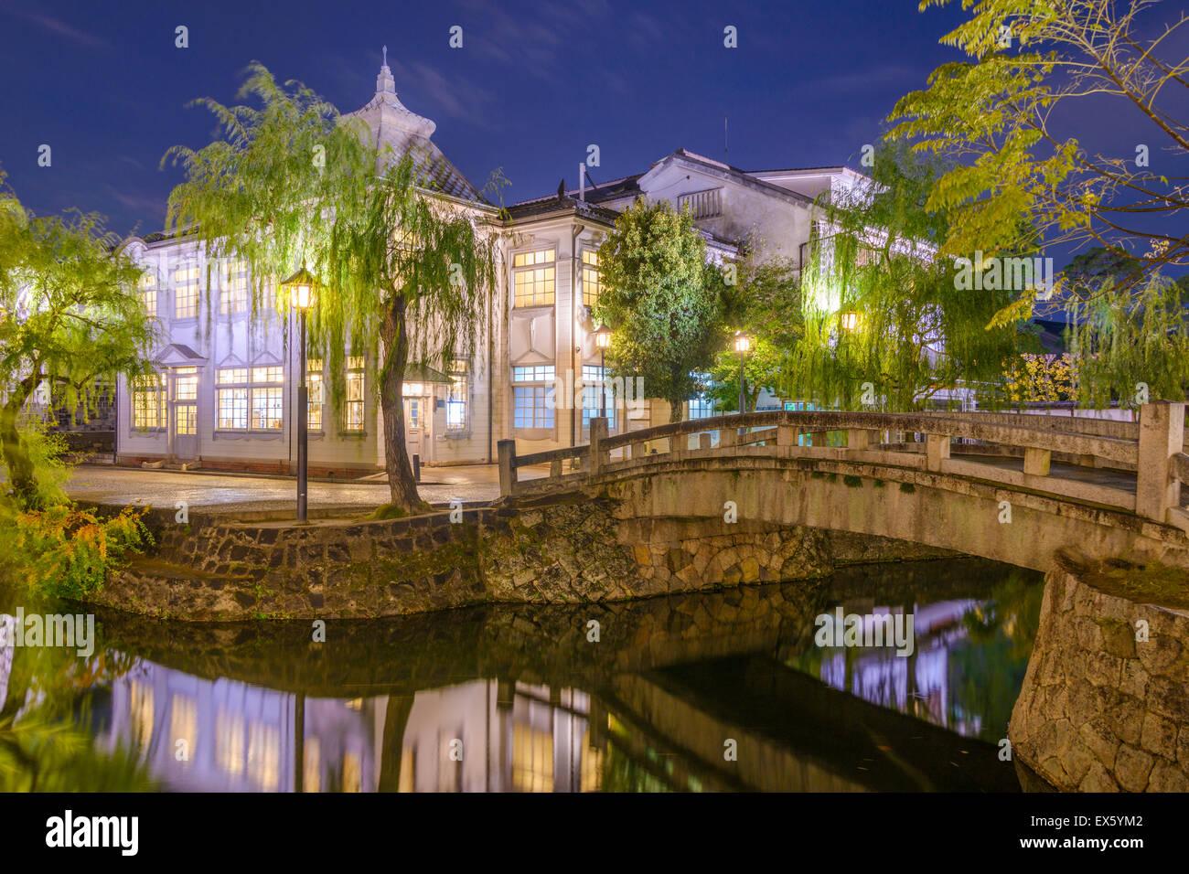 Kurashiki, Okayama, Japan alten Stadt Kanäle. Stockbild