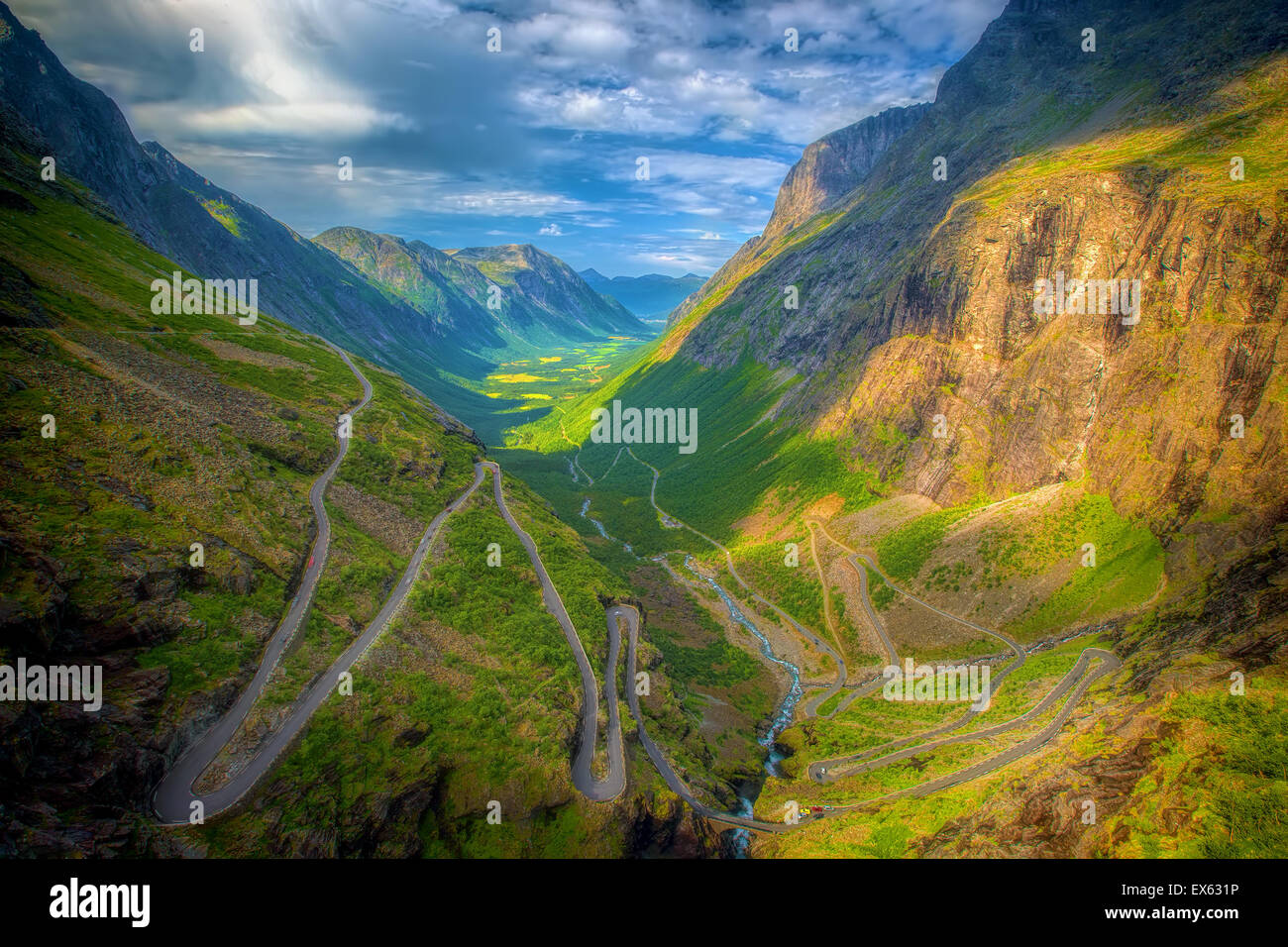 Trollstigen in Norwegen Stockbild
