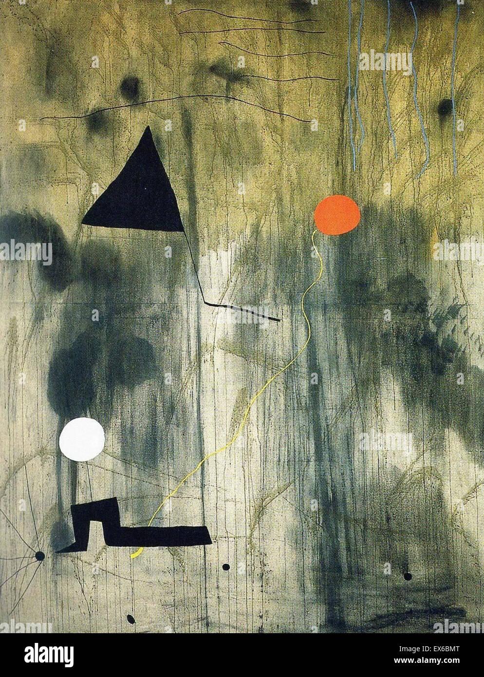 Joan Miro die Geburt der Welt Stockbild