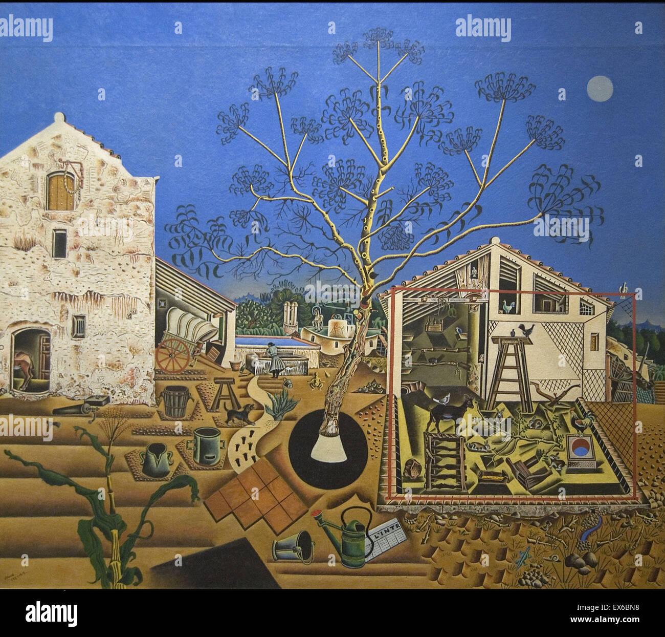 Joan Miró die Farm Stockbild