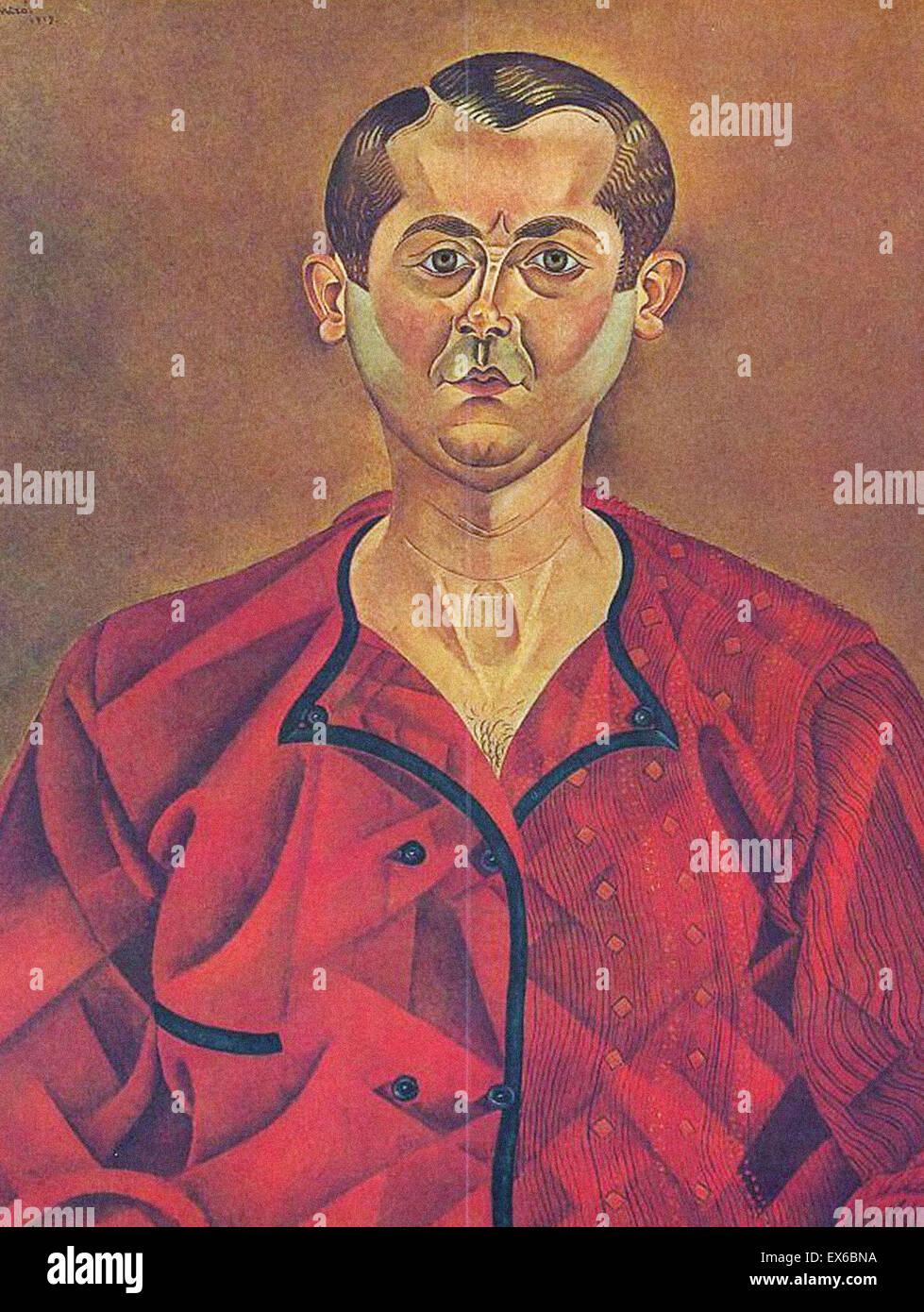 Joan Miro Selbstporträt Stockbild