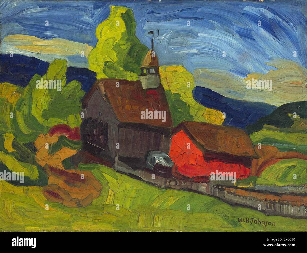 William H. Johnson Kirche des Landes Stockbild