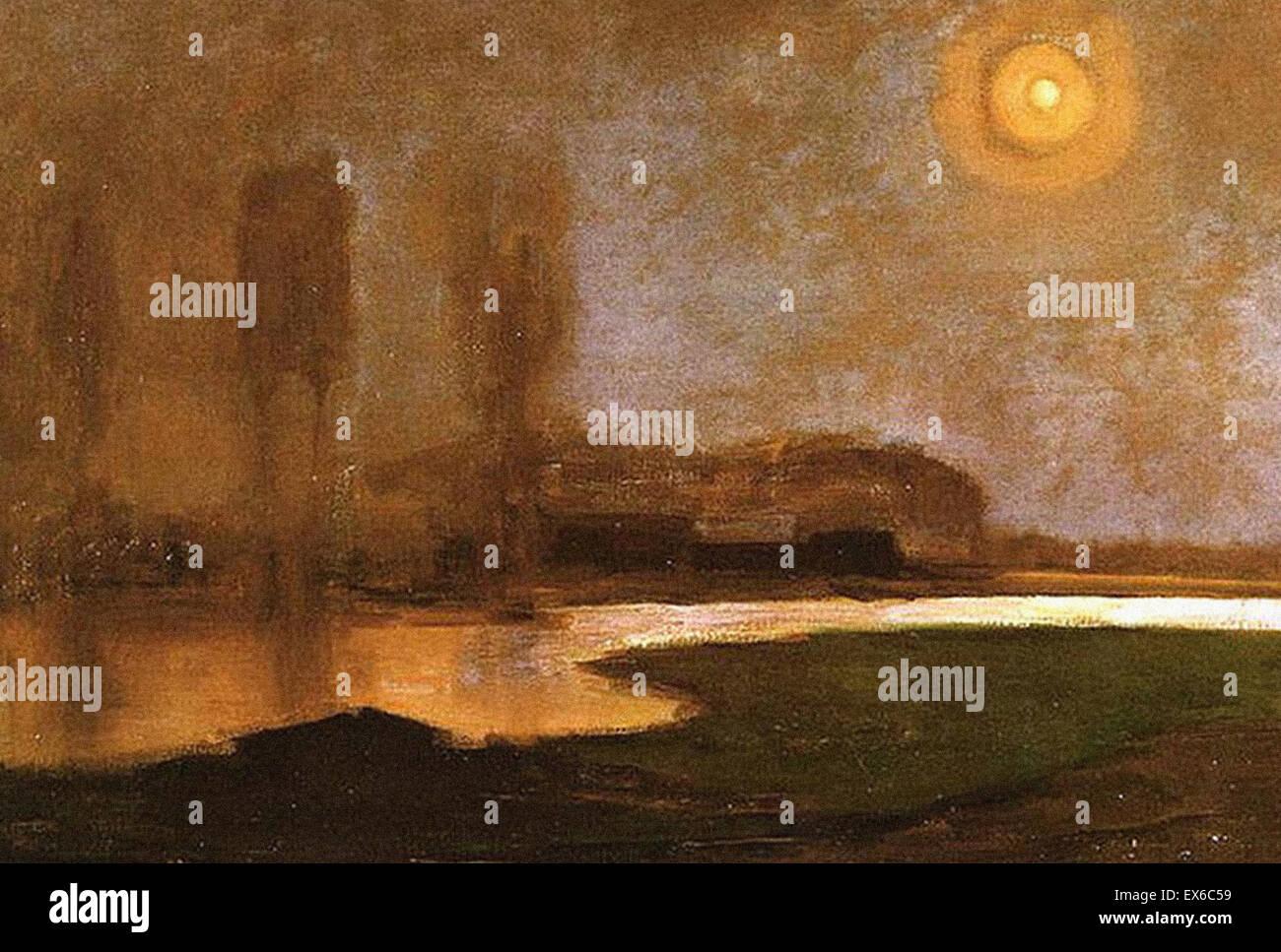 Piet Mondrian Sommernacht Stockbild