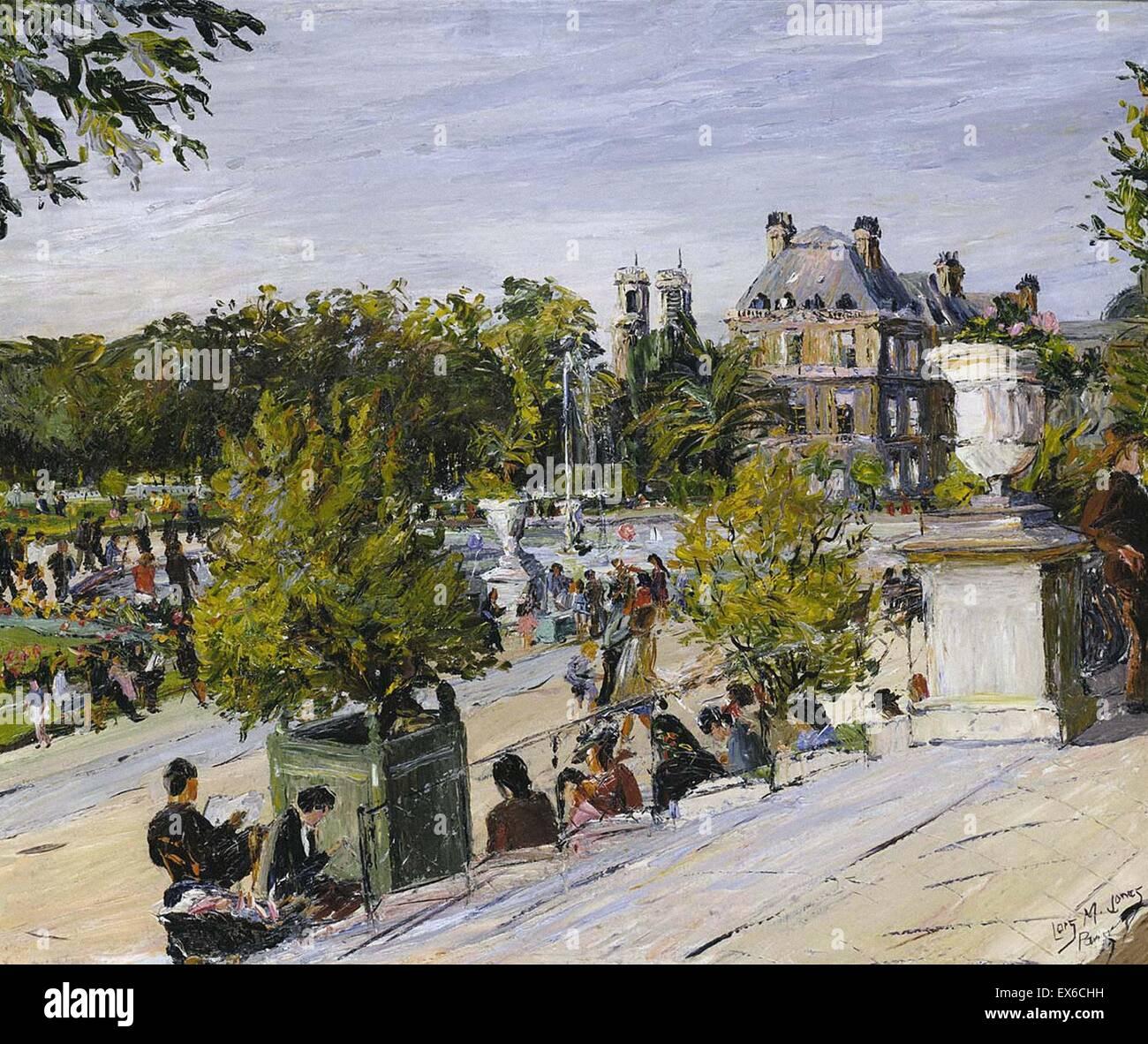 Lois Mailou Jones Jardin du Luxembourg Stockfoto