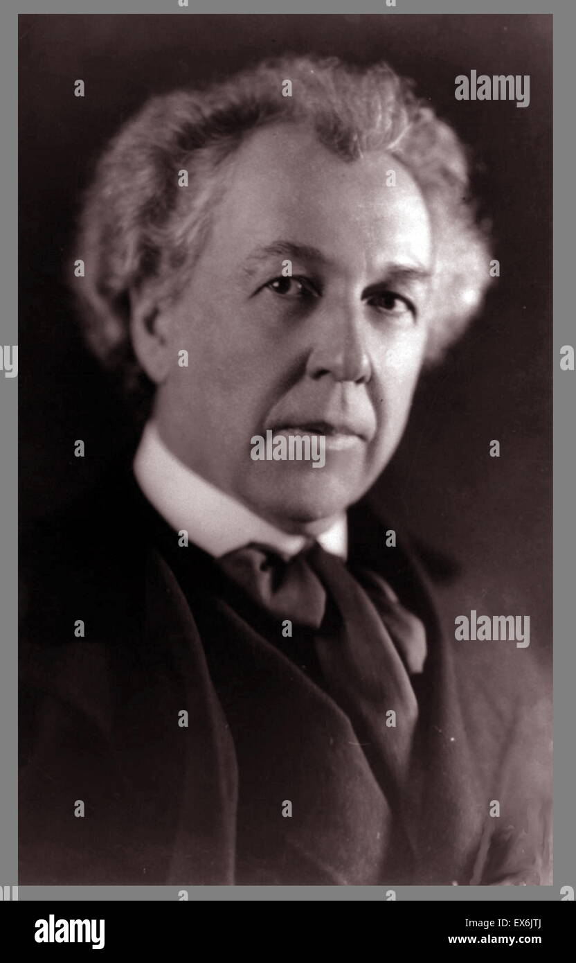 Frank Lloyd Wright (geb. Frank Lincoln Wright, 8. Juni 1867 – 9. April 1959) war ein US-amerikanischer Architekt Stockfoto
