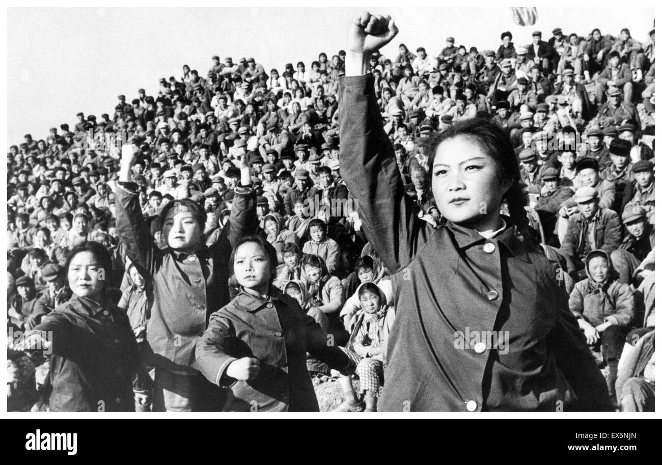 Chinesische rote Garden während der Kulturrevolution in China 1966 Stockbild