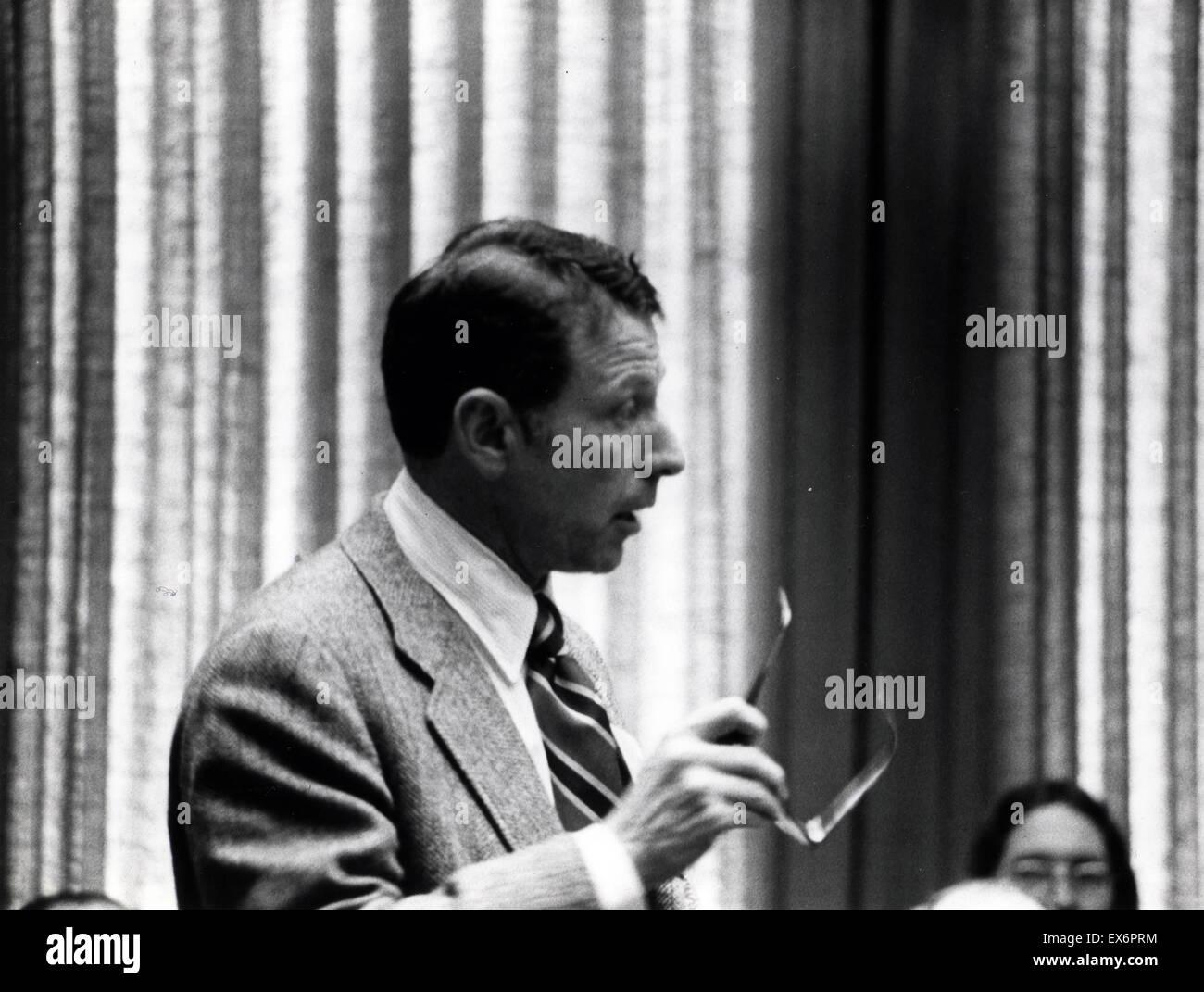 US-amerikanischer Biochemiker Paul Berg (geboren 30. Juni 1926) und emeritierter Professor an der Stanford University. Stockbild
