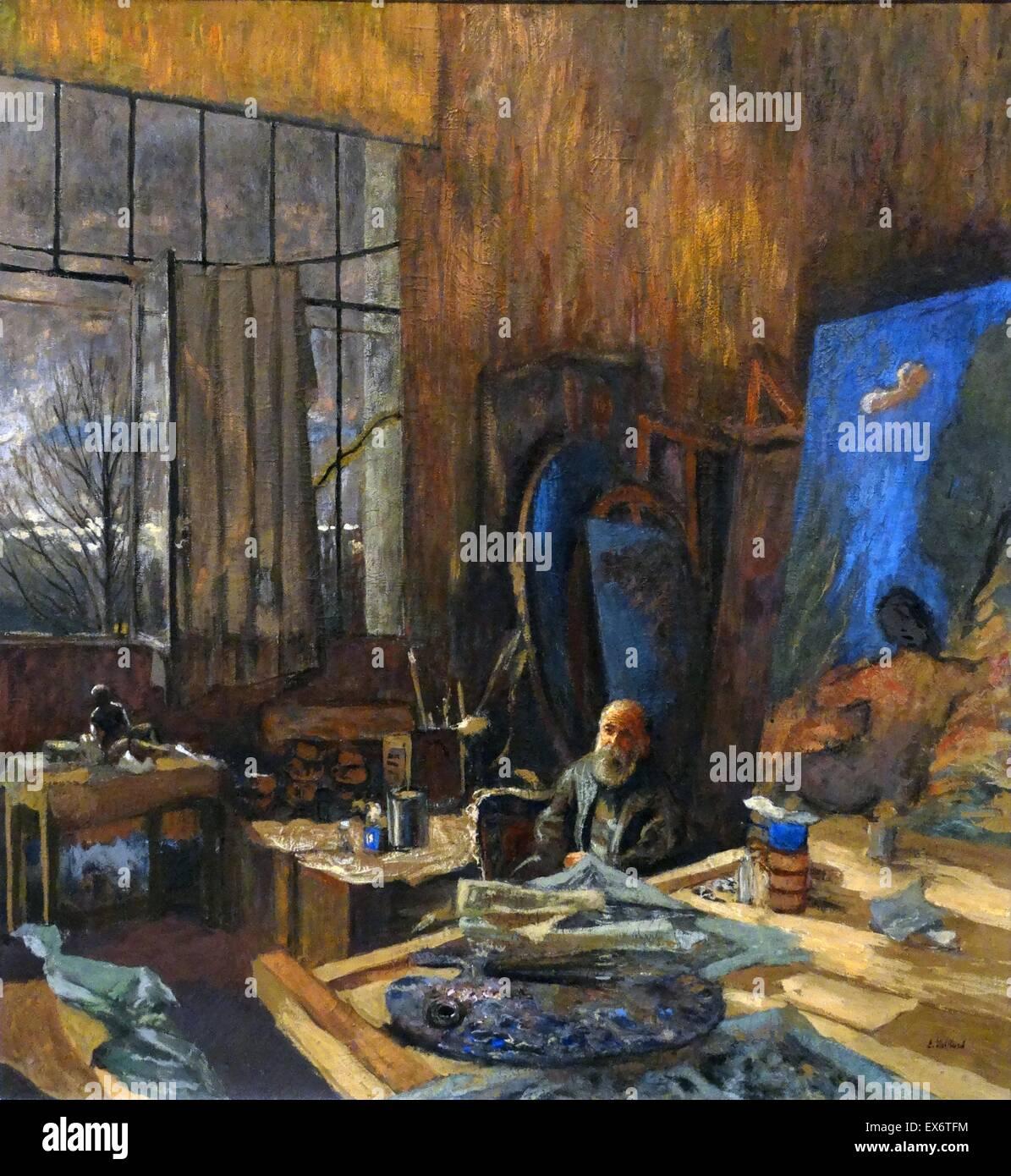 Kleben Sie Auf Leinwand, 1933. Vuillard War Ein Französischer Maler Und  Grafiker, Die Die Nabis Zugeordnet War.