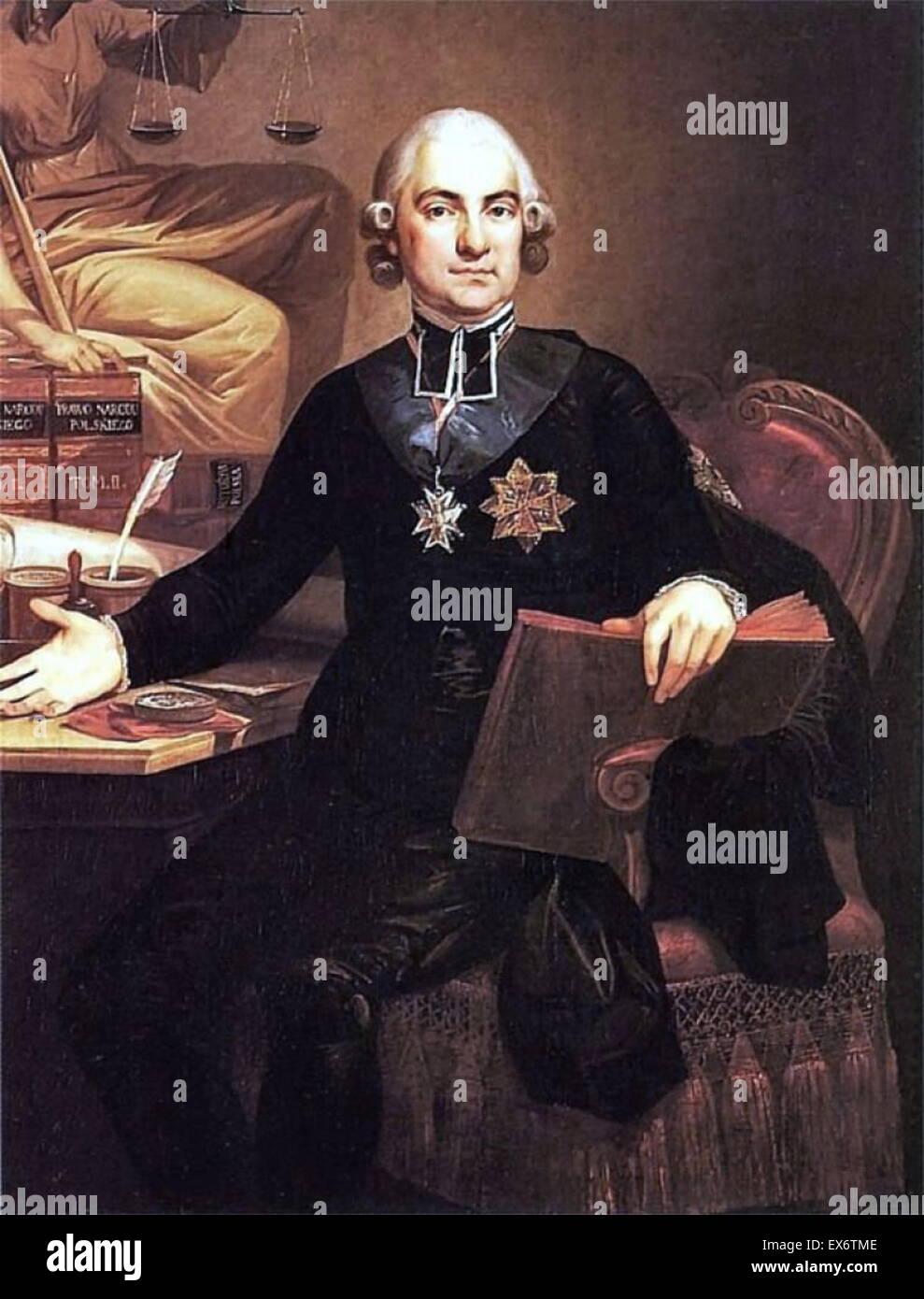 Hugo Stumberg Ko??? Taj (1750 ? 1812) polnischer römisch-katholischer Priester, sozialer und politischer Aktivist. Stockbild