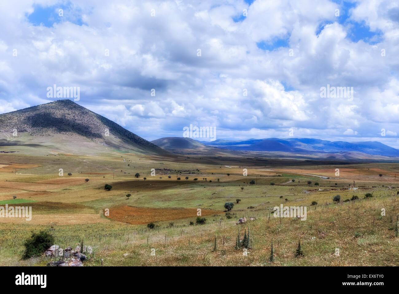 Landschaft mit Vulkanen, Guezelyurt, Aksaray, Anatolien, Türkei Stockbild