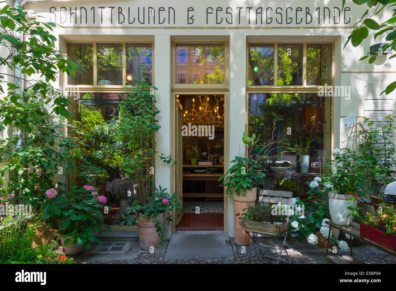 Flower Shop Exterieur in Prenzlauer Berg Berlin Deutschland Stockbild