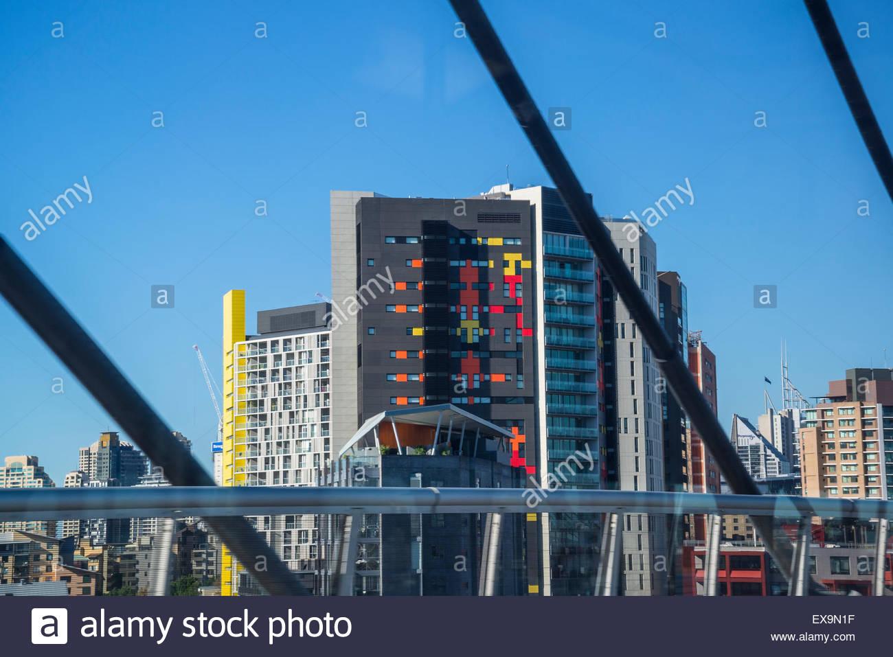 Zeitgenössische Architektur, zentral-Sydney, Australien Stockbild