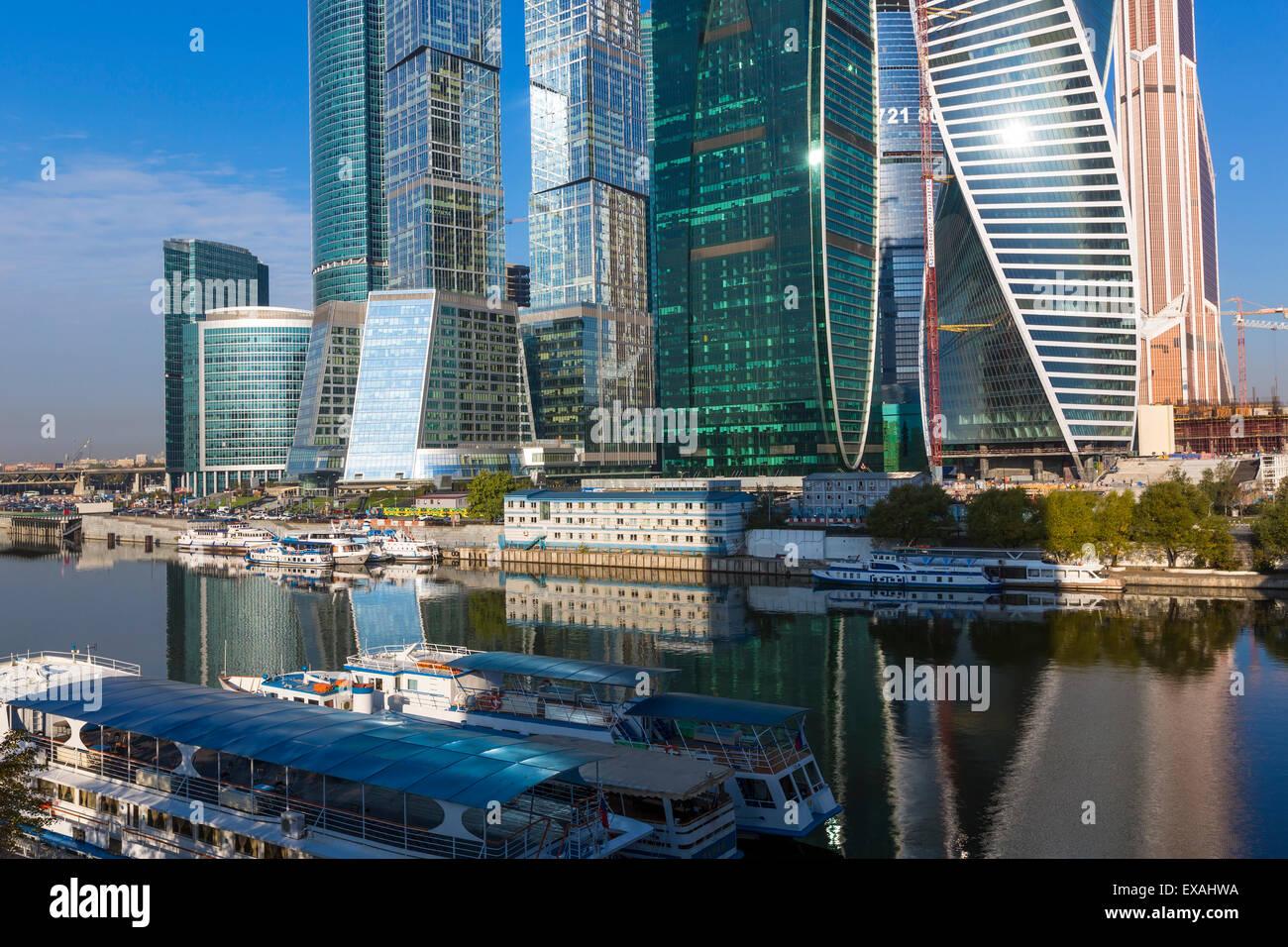Wolkenkratzer der modernen Stadt Moskau International Business und Finanzen Entwicklung, Moskau, Russland, Europa Stockbild