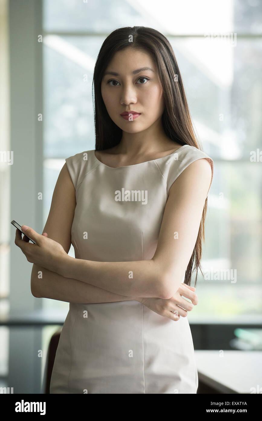 Geschäftsfrau, portrait Stockbild