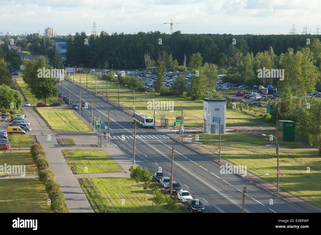 Die Aussicht Vom Balkon Rshewka Sankt Petersburg Russland