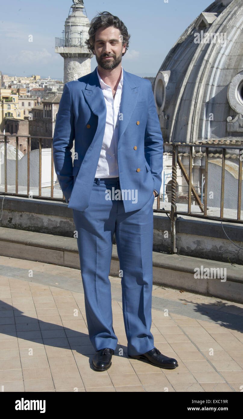"Rom-Foto-Shooting von ""The Man from U.N.C.L.E"" Featuring: Luca Calvani wo: Rom, Italien: 9. Mai 2015 Stockbild"