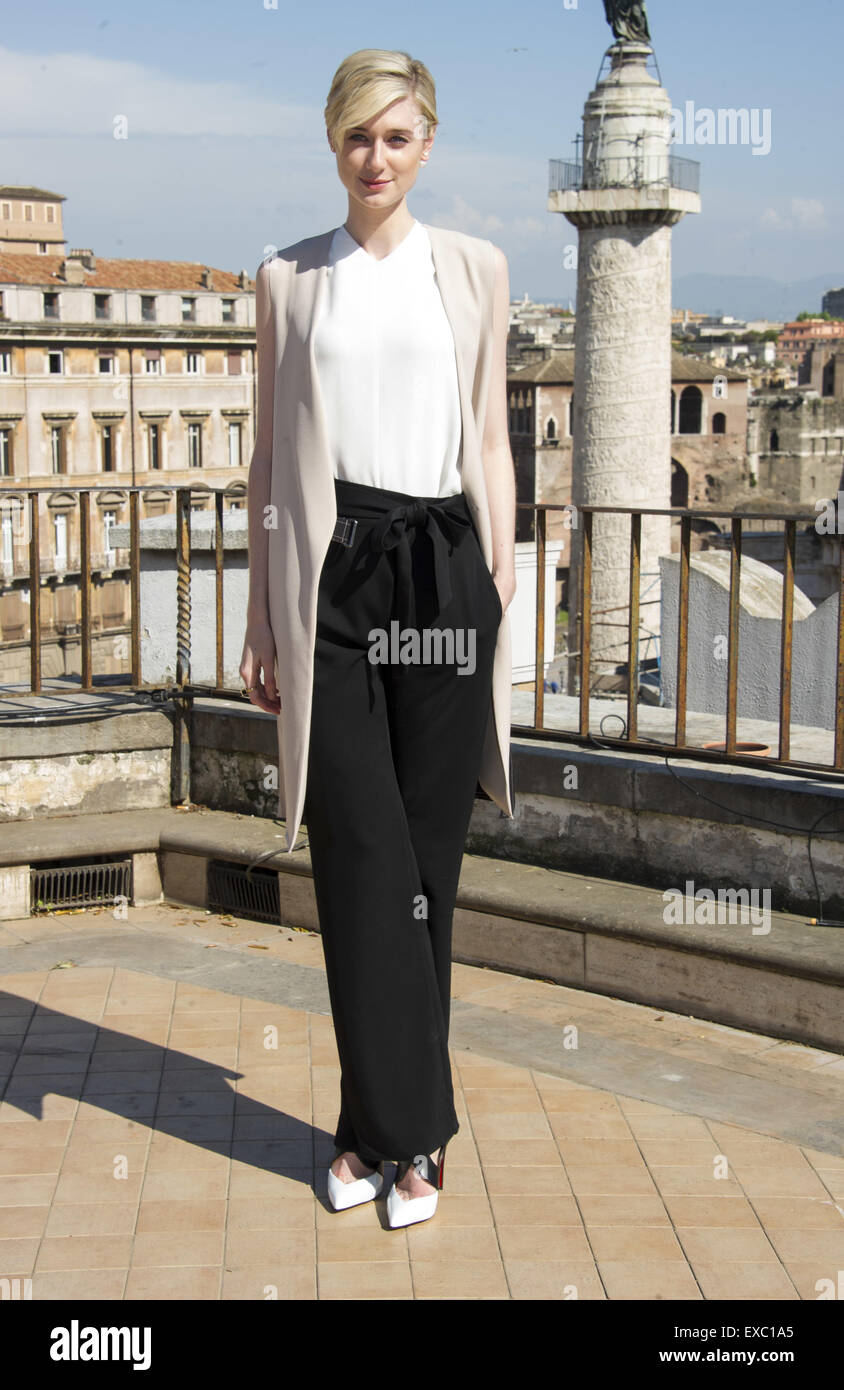 "Rom-Foto-Shooting von ""The Man from U.N.C.L.E"" Featuring: Elisabeth Dibiki Where: Rom, Italien: 9. Mai Stockbild"