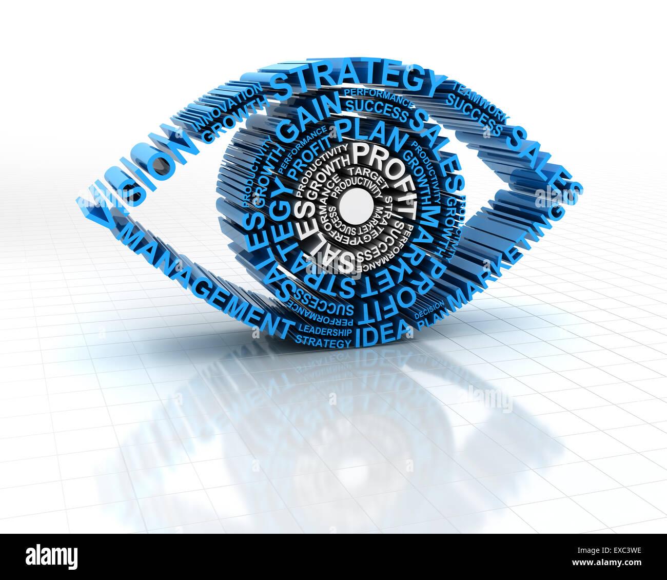Business-vision Stockbild