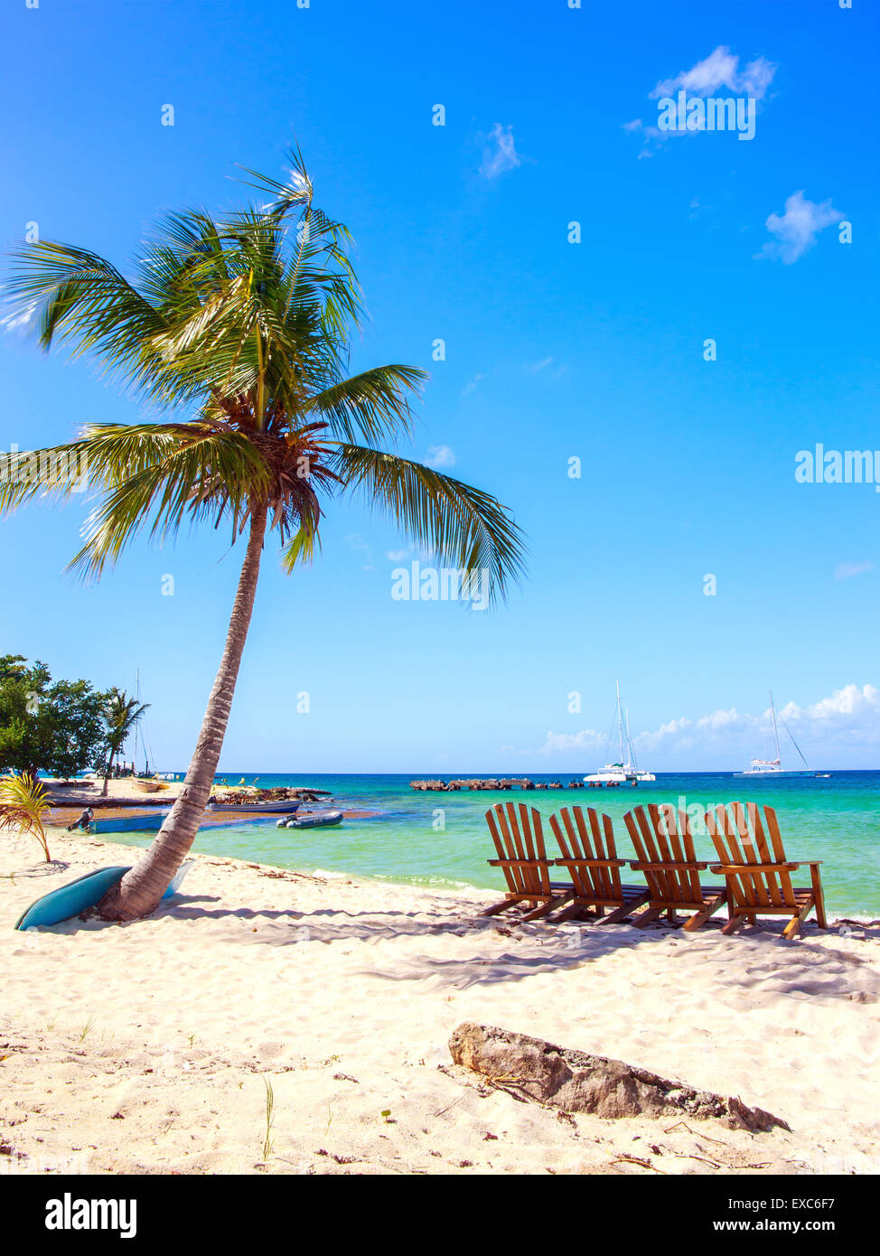 Schönen karibischen Strand auf der Isla Saona, Dominikanische Republik Stockbild