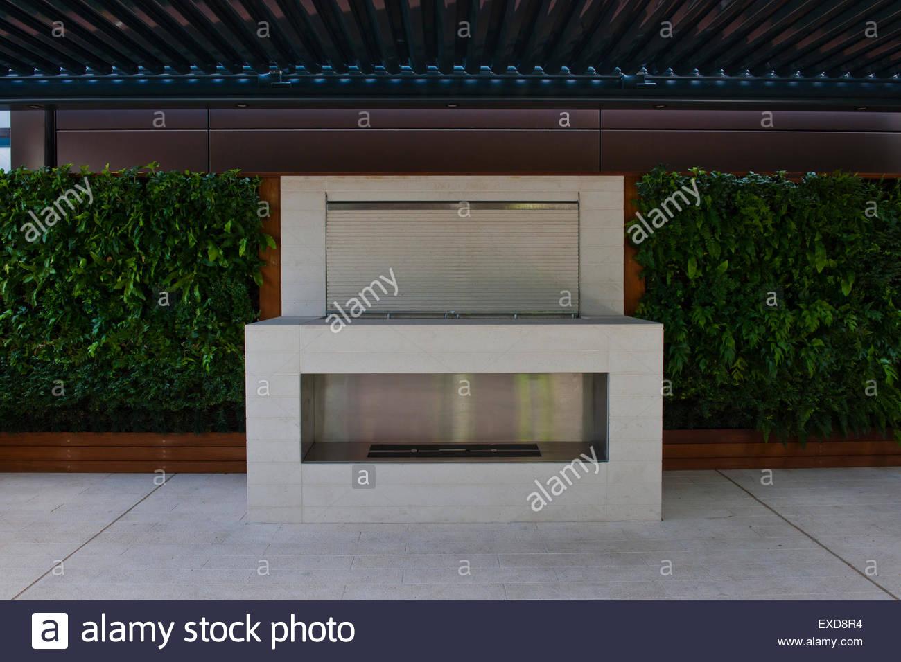 Zeitgenössische Dachgarten Stockbild
