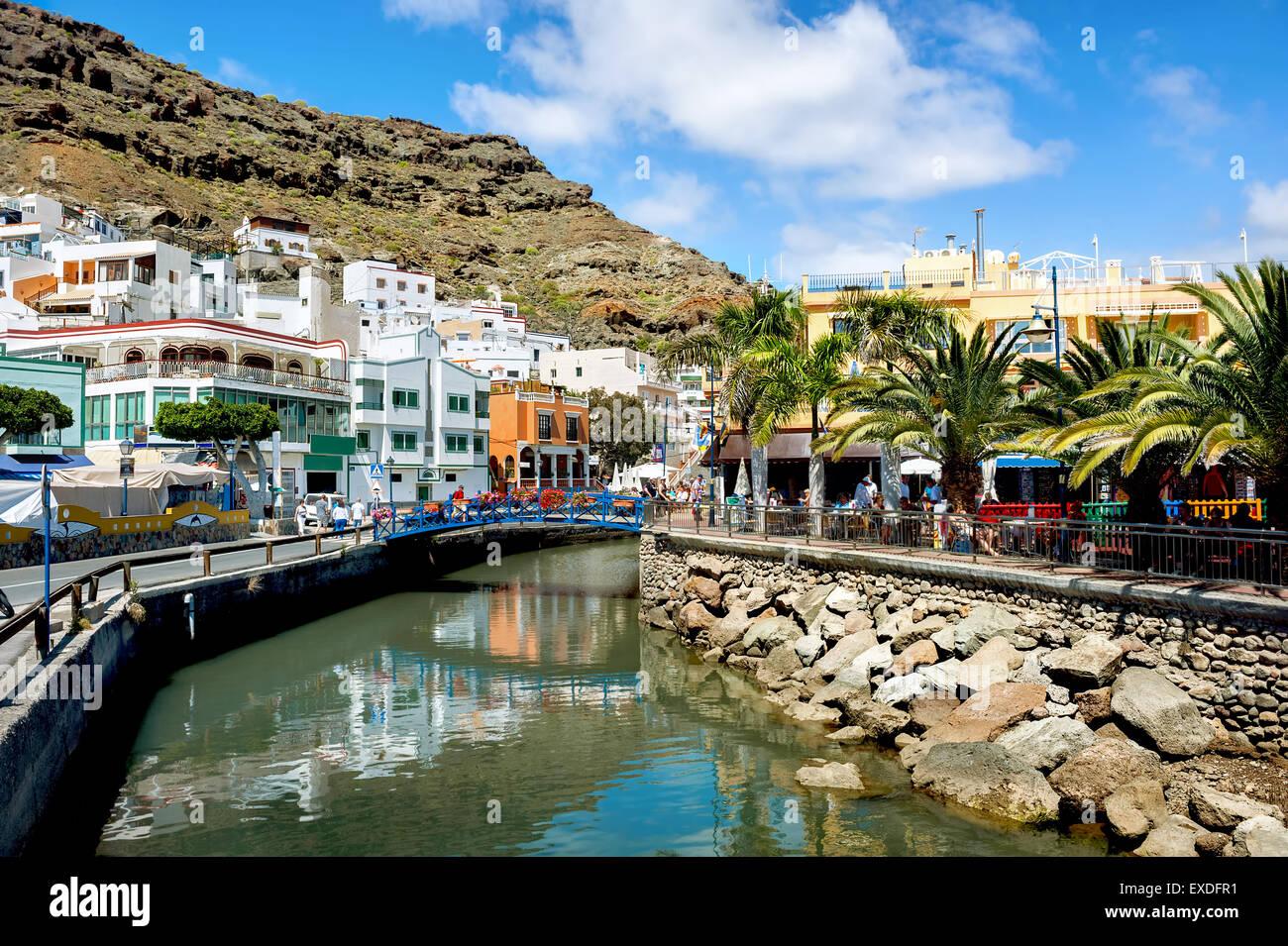 Puerto Mogan. Gran Canaria. Spanien Stockbild