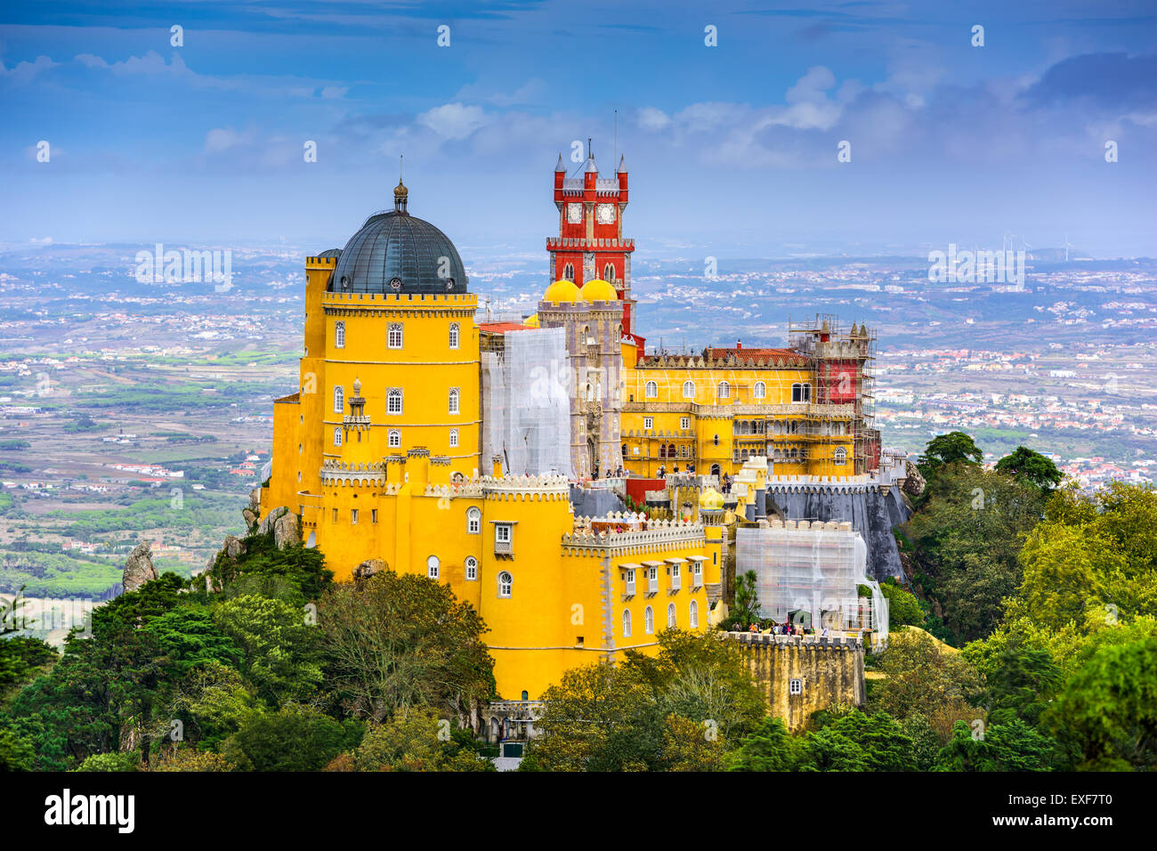 Sintra, Portugal bei Pena Nationalpalast. Stockbild