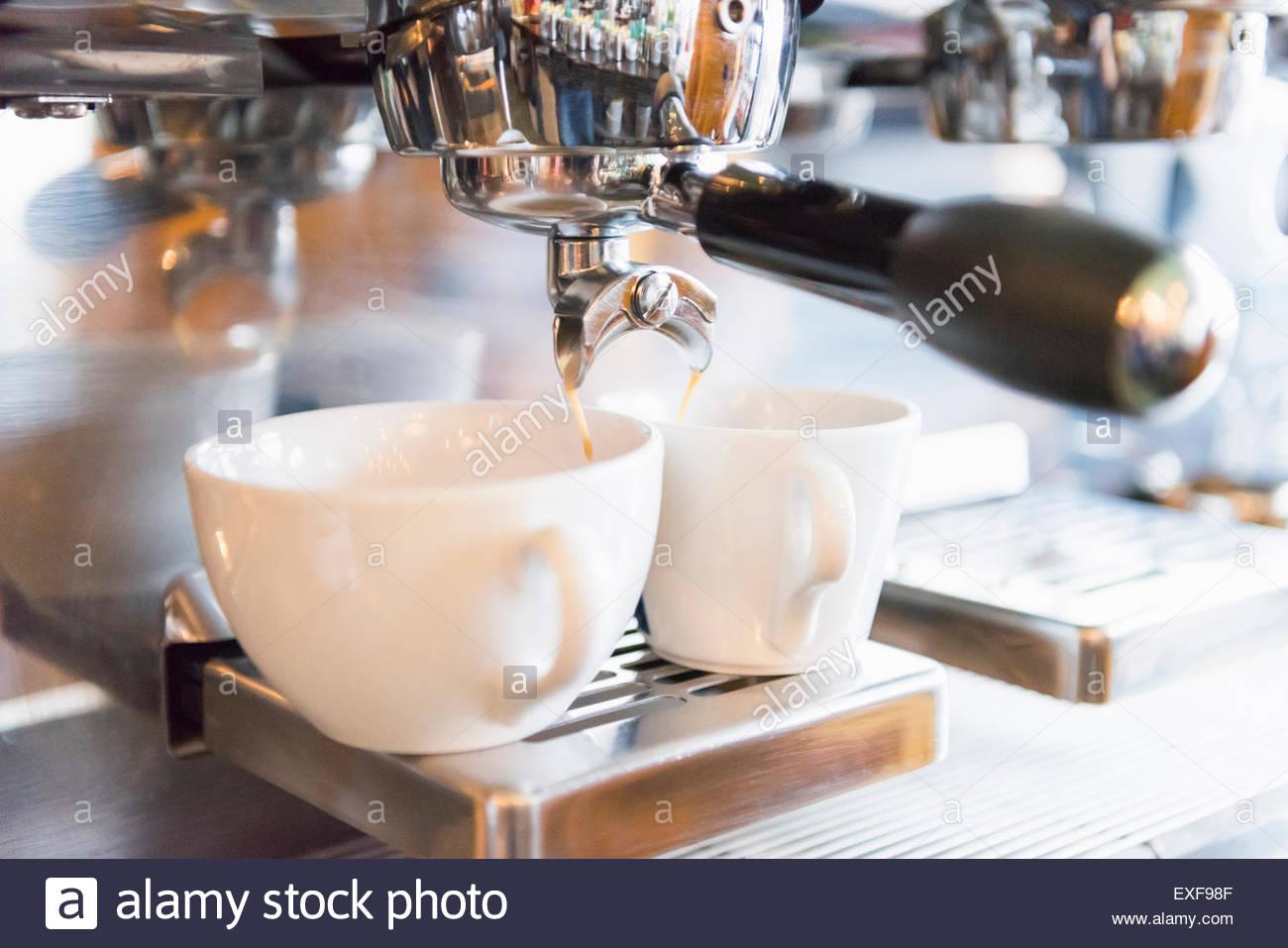 Kaffee gemacht Stockbild